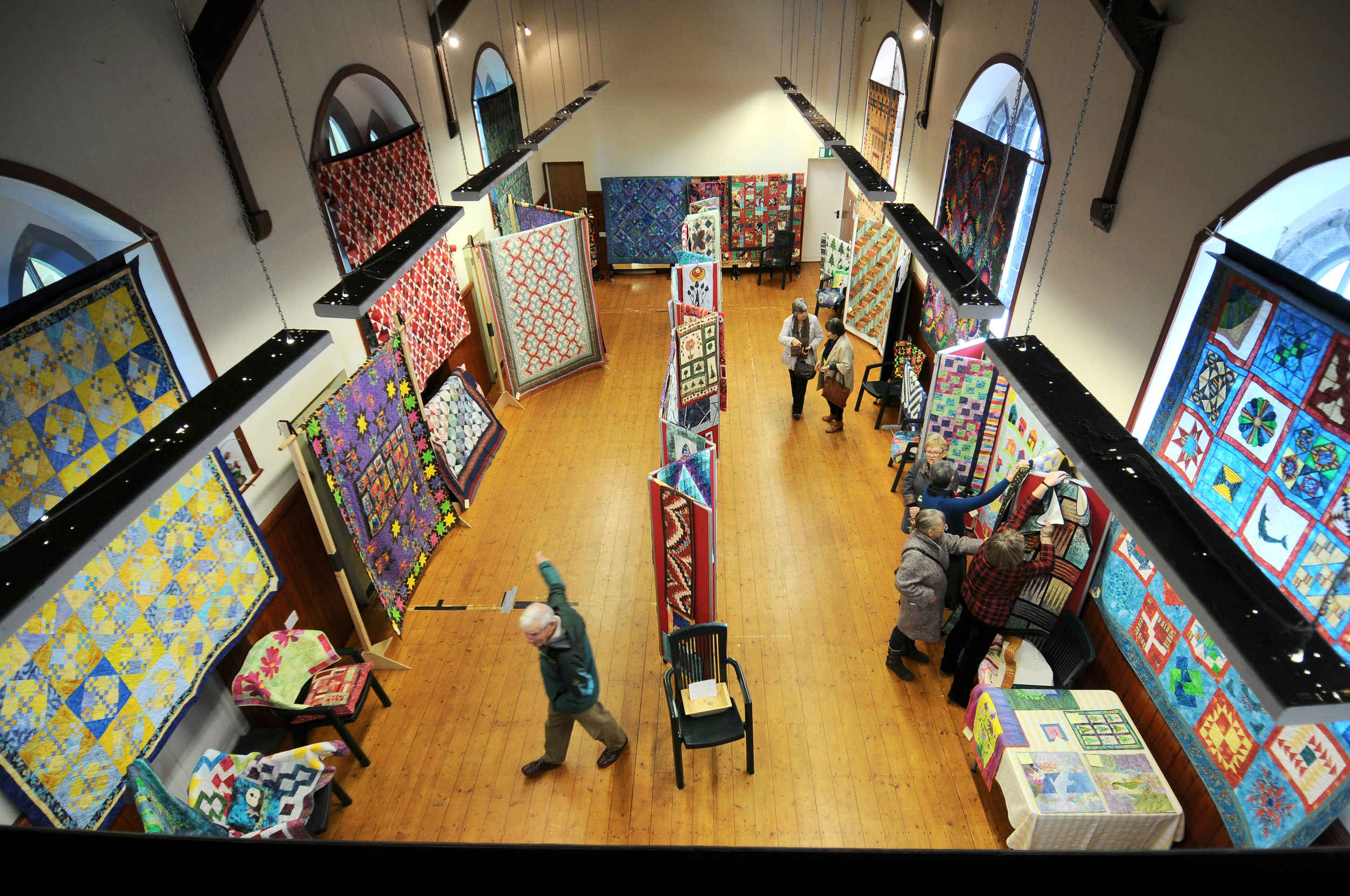 An exhibition of the work of the late Charlotte Shafto, organised by Mannin Quilters, in Ballasalla Village Hall