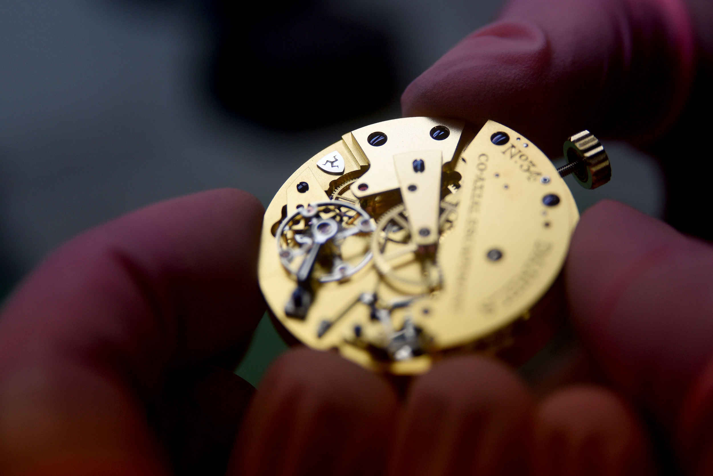Inside the workshop of Roger W Smith watchmakers - the Daniels Anniversary watch, one of 35 pieces being created to commemorate the life of George Daniels, are in the final stages of production