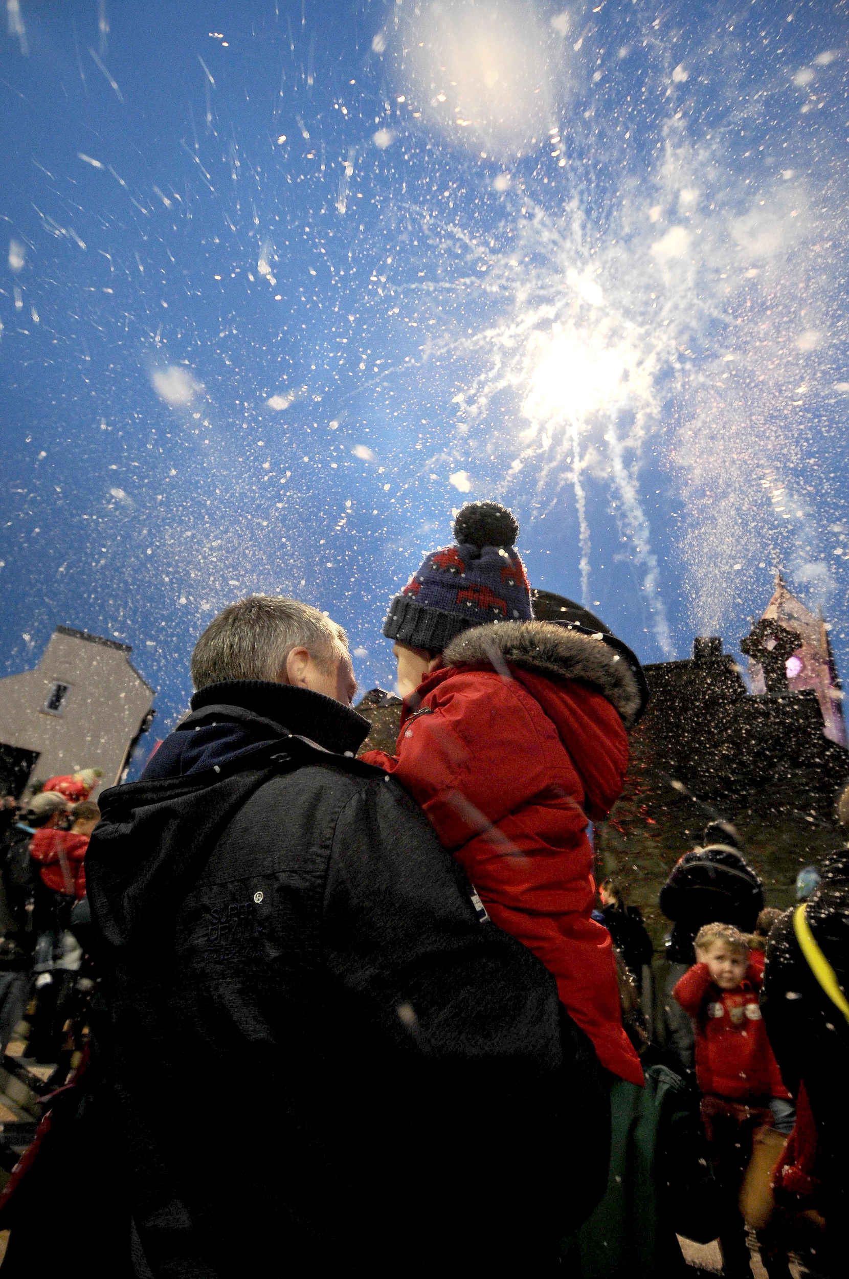 Christmas lights are switched on in Market Square, Peel