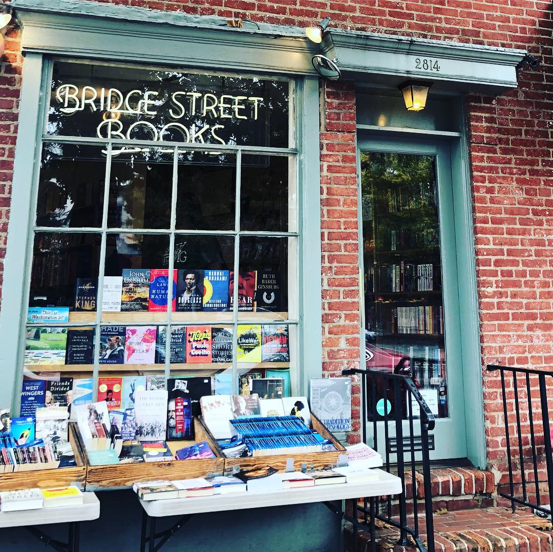 Bridge Street Books - Just a ten minute walk from the Foggy Bottom Metro stop (Blue, Orange, and Silver lines). The Circulator, 30, 33, and 38 buses all stop within a couple of blocks of the shop.