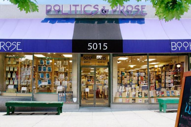 Politics and Prose - For the main store on Connecticut Ave, you can use the M4, L1, and L2 buses. For the Union Market location, you can use the NOMA-Gallaudet U stop on the red line. For the Wharf location, you can use the L'Enfant Plaza stop on the green and yellow lines. (You only need to visit one location to get your Busboys and Poets stamp.)
