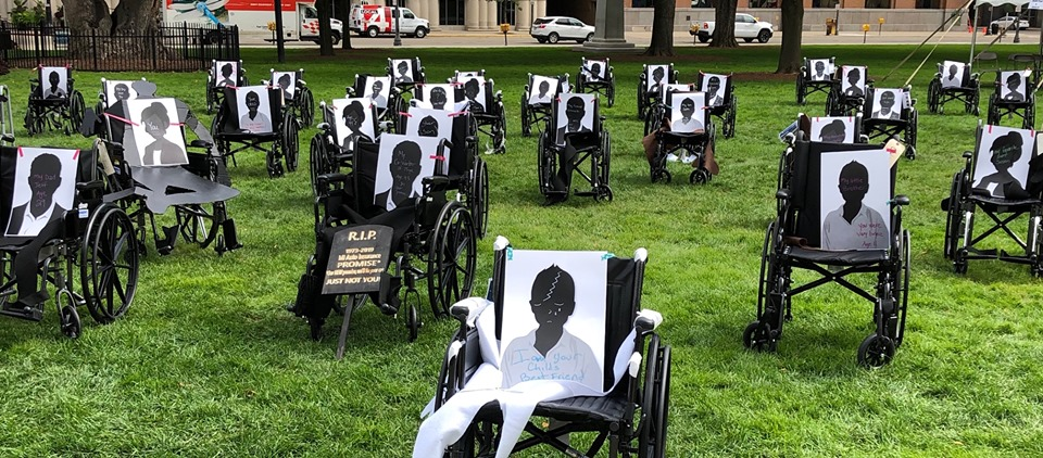 This powerful image was taken and posted by CPAN. This took place after the rally to leave a lasting impression on the front lawn of the Capital to our state legislators.