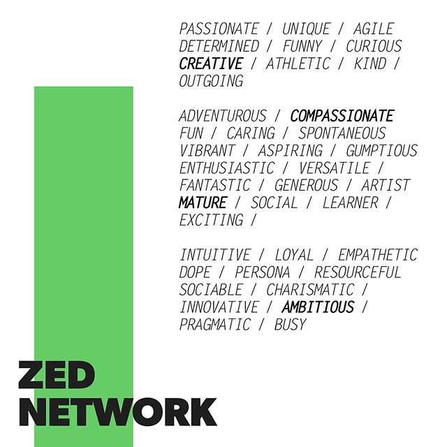"#meetZED, a Canada-wide network of Gen Zs who are unique, smart and ready to change the world. We asked our ZED Network, ""What's one word to describe you?"" and check out the most popular responses! Can you spot yours? 🧐 . . . . . #weareZED #socialmediamarketing #social #socialmediatips #socialmarketing #socialmediaguru #genzmarketing #digitalmarketing #brandconsulting #businessconsulting #consultingfirm #teenagerposts #canadianmarketing #youngentrepreneur #youngentrepreneurs #startupbusiness #entrepreneursofinstagram #contentmarketing #socialmediamanager #successmindset #businesspassion #alwayslearning #communityovercompetition  #entrepreneurslife #laptoplifestyle #digitalnomad"