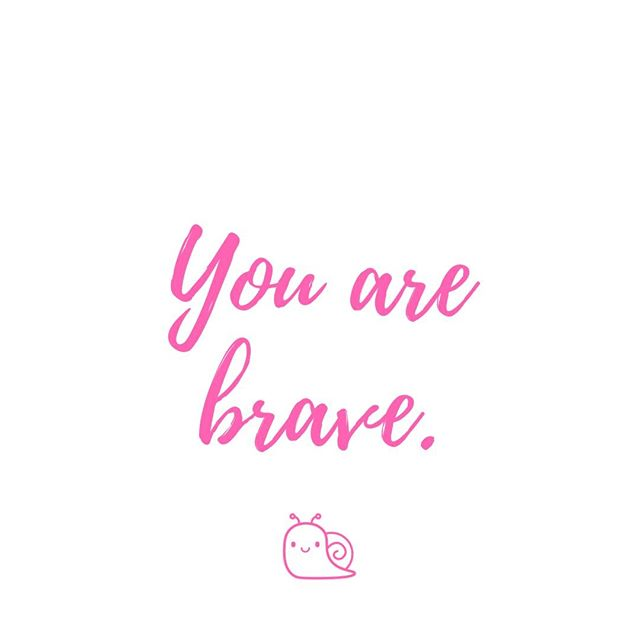 Don't scoff at it! You ARE brave. Think of all the things you were too scared to do... but you did them! For some of us, getting up in the morning is brave. Being our silly, true selves is brave. Another day  you can do this.  For me... . Having kids . Standing up for myself . Starting businesses . Cliff jumping . Singing in front of people 🧘♀️ . . . .  #positive #mindset #motivation #positivefamily #growthmindset #youcandoit #life #happiness #love #bestlife #happylife #seethegood #positivity #morningmindset #bebrave #youarebrave #encourage #selflove #loveyourself #mindfulness #inspiration #beherenow #positivevibes #wellness