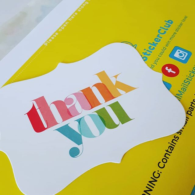 Thank YOU for being part of our sticker journey! Every single one of your orders, subscriptions, shares, likes, pics, and recommendations is special to us! . . (We quietly released our Favs and  Mystery packs online on the weekend! Did you see them yet?) . . . #stickerseverywhere #thankyou #stickerclub #stickershop #stickersubscription #stickers #fullofstickers #stickeraddict