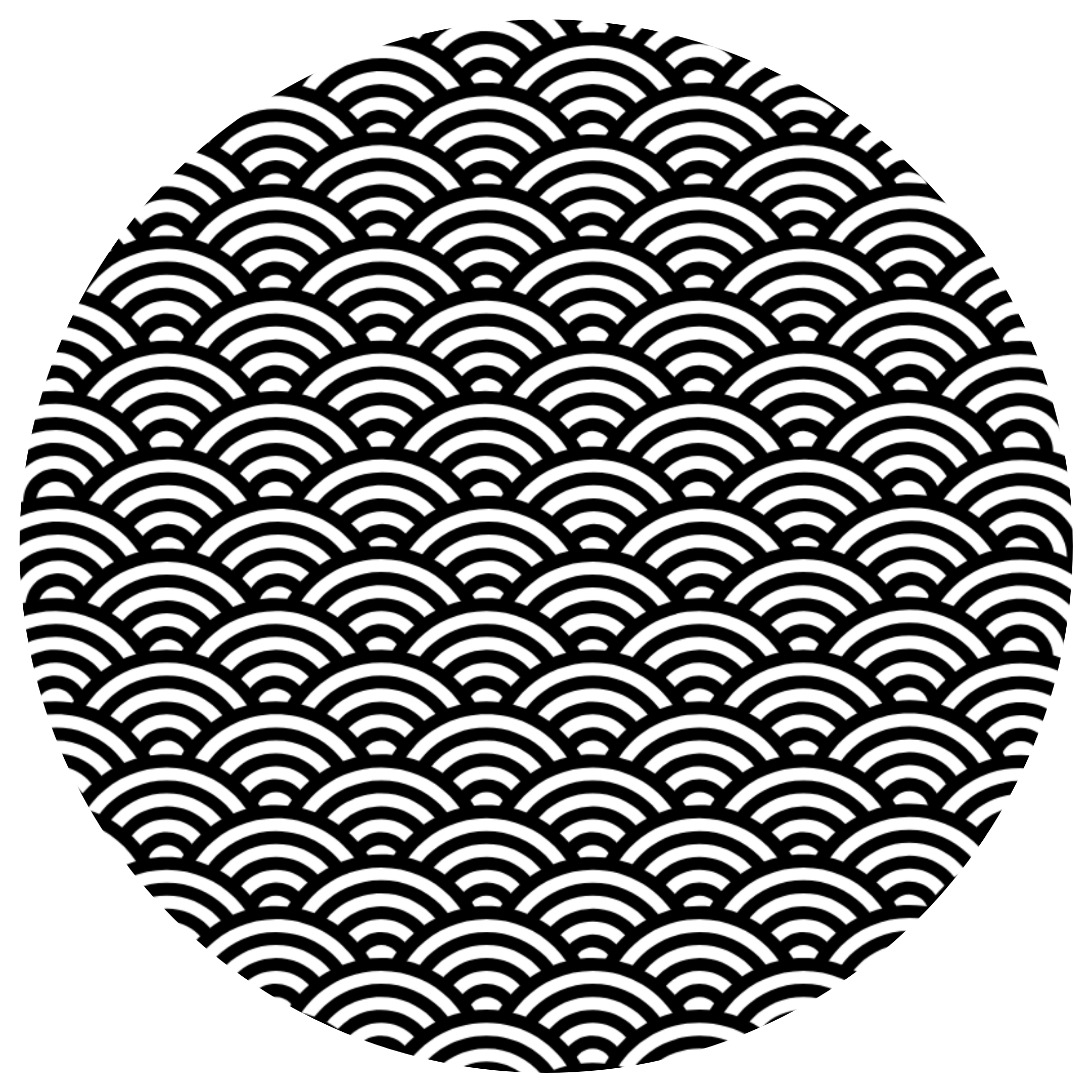 Round Waves Coloring Sheet