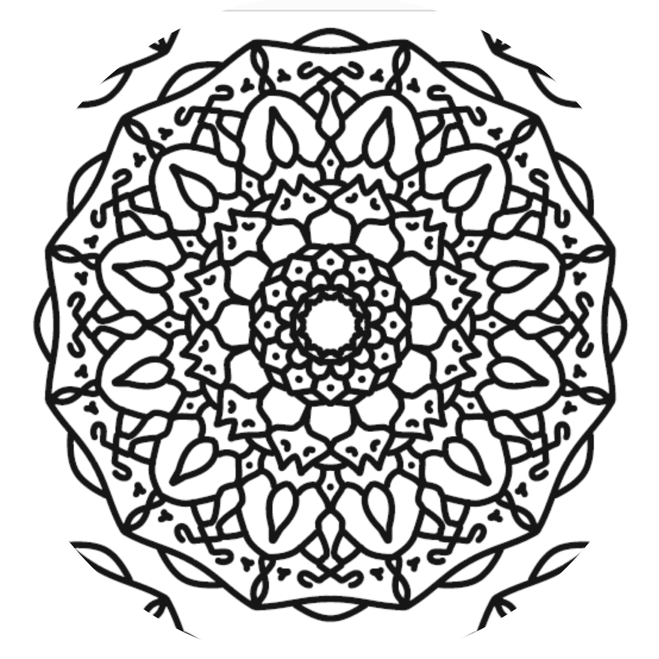 Page Mandala Coloring Sheet