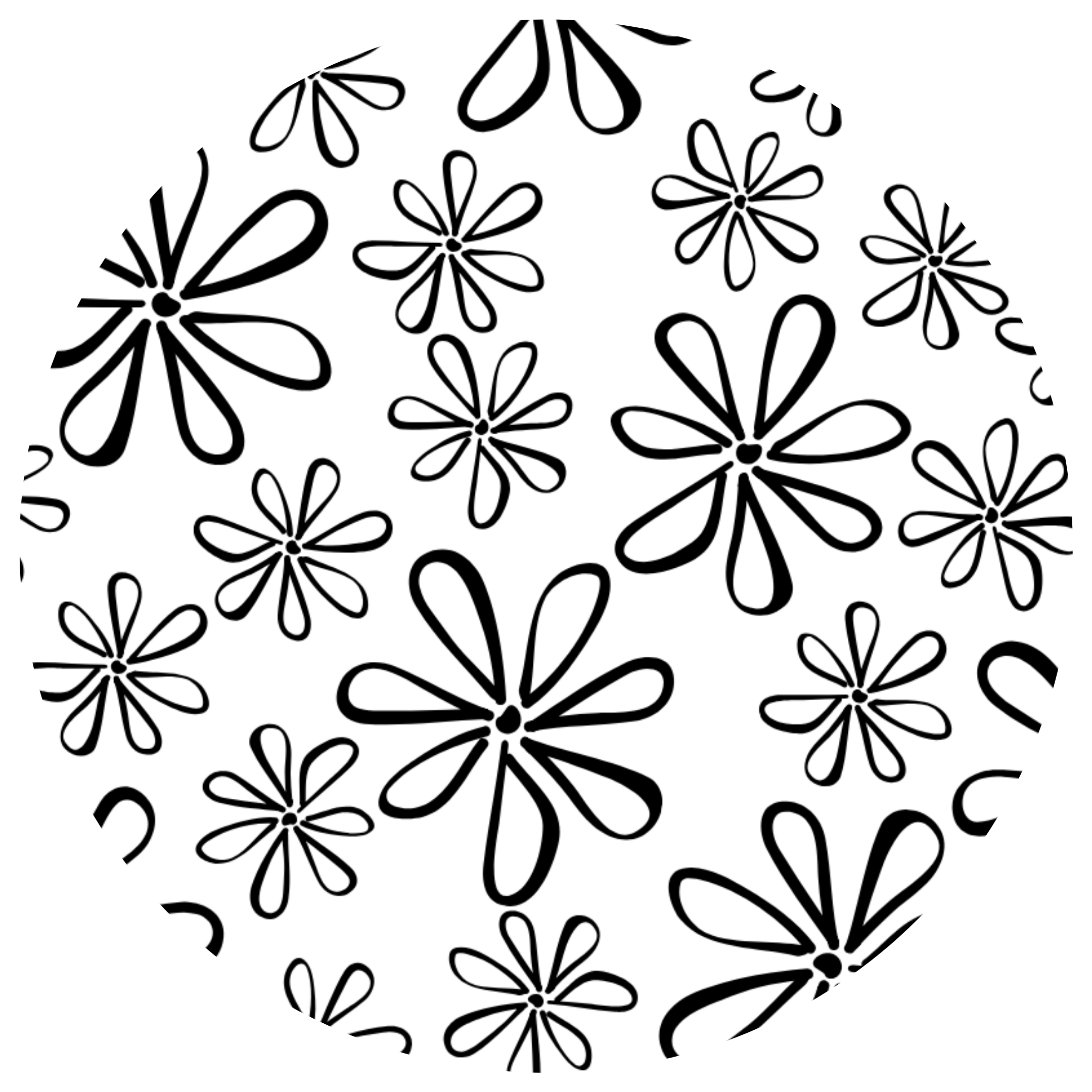 Flirty Flowers Coloring Sheet