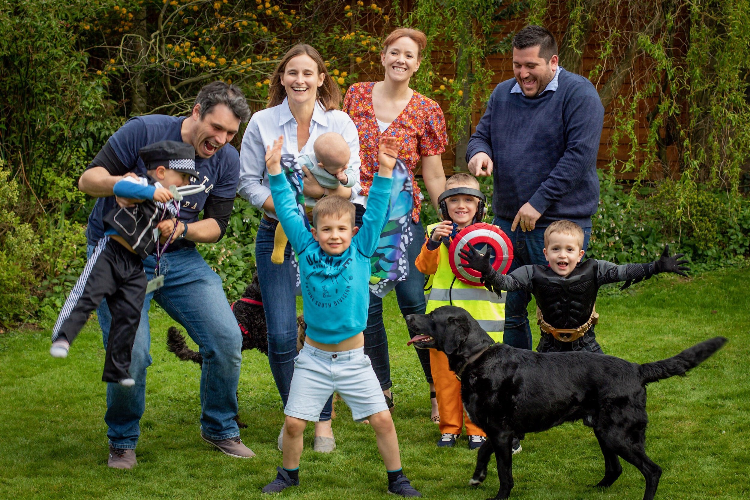 So this is us, madness and all… 👩🏻🧔🏻🧑🏼👦🏼👶🏻🐕👩🏻🧔🏻🧑🏼🧑🏼🐶