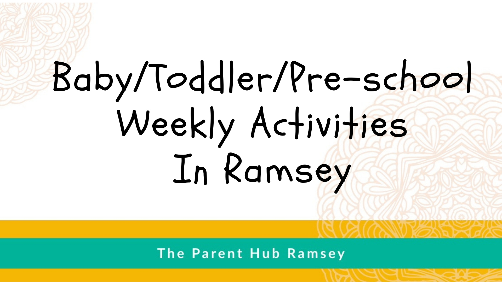 Pre-school activities in Ramsey