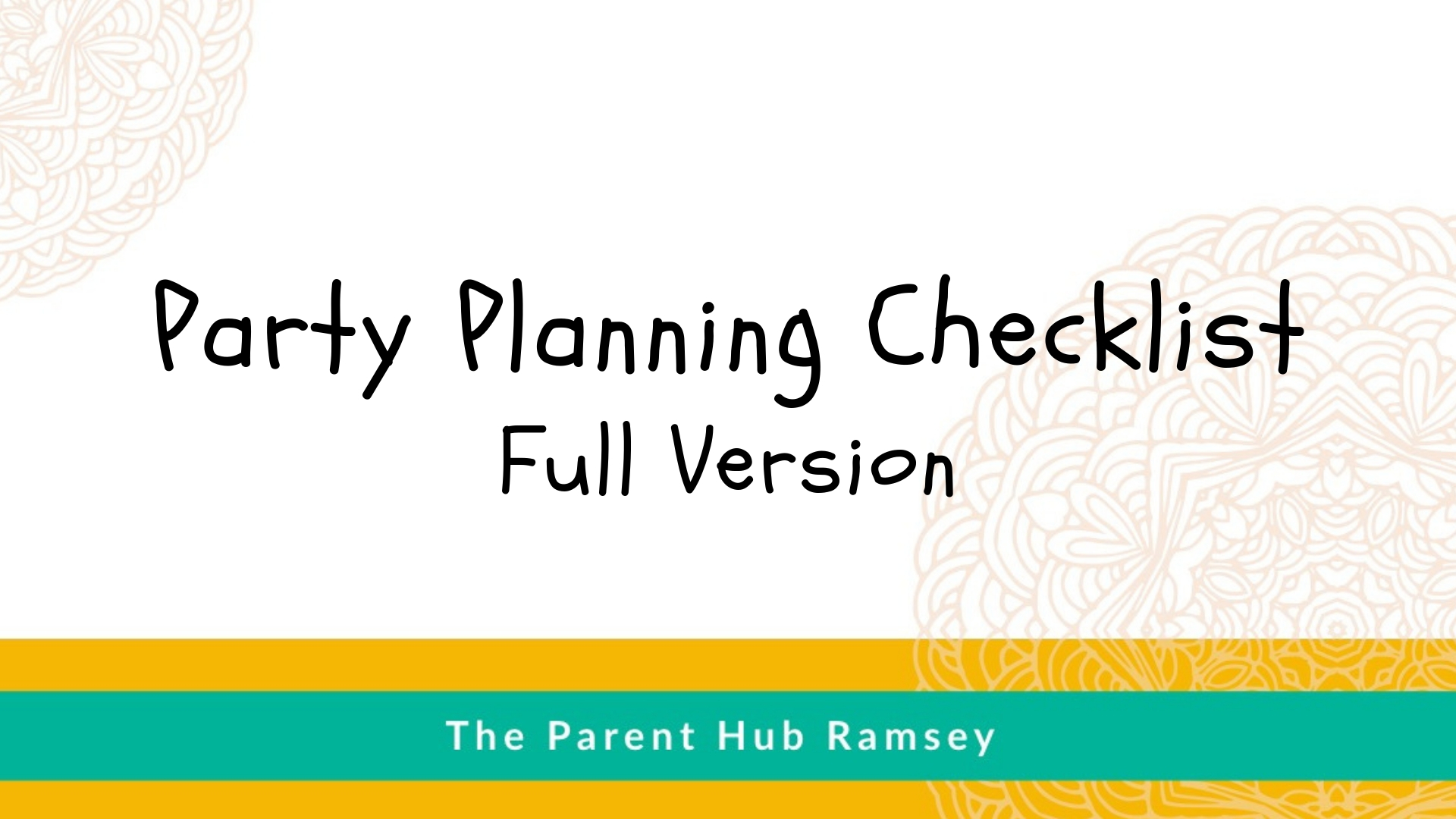 Kids Party Planning Checklist - PDF
