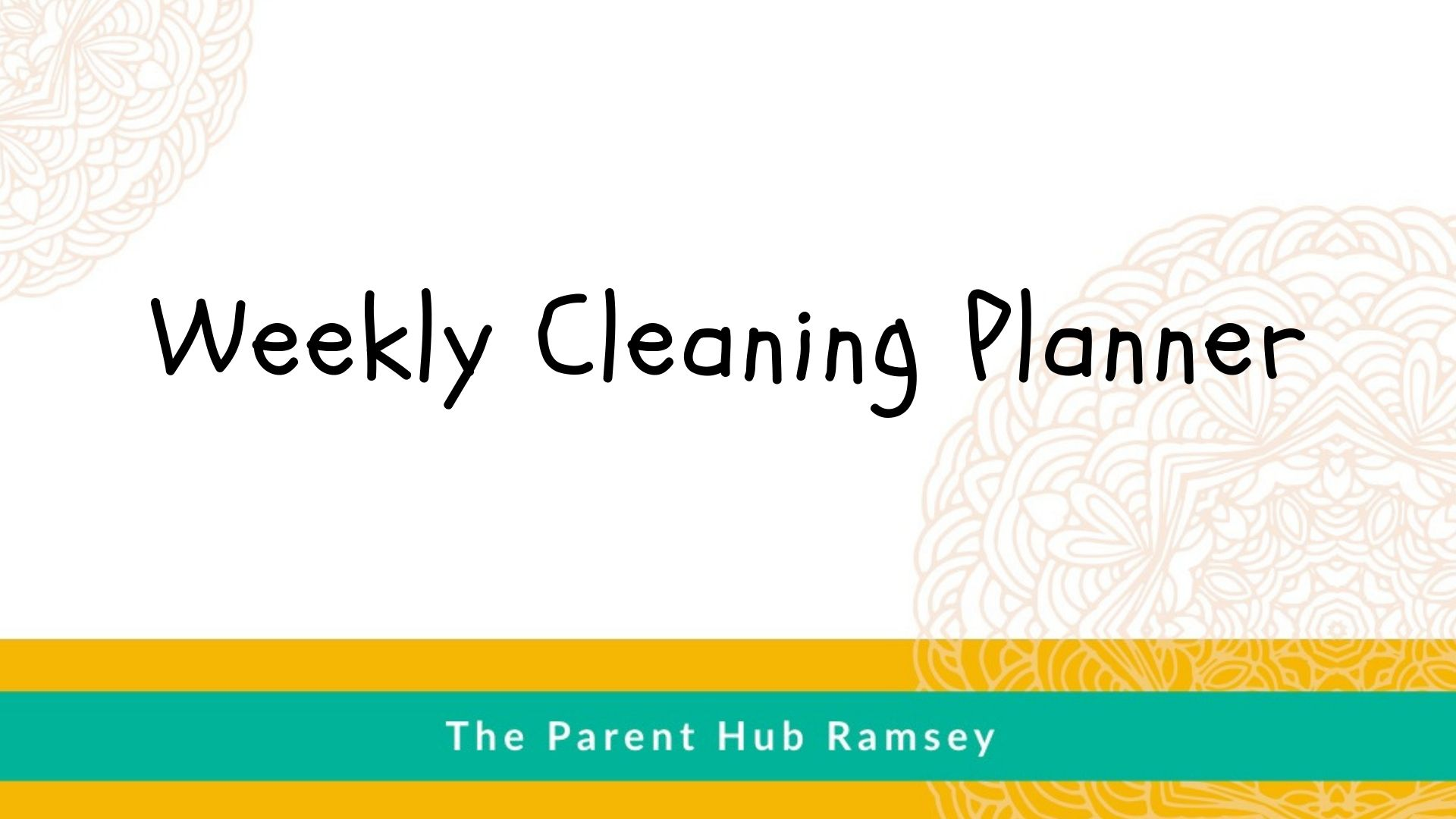 Weekly Cleaning Planner