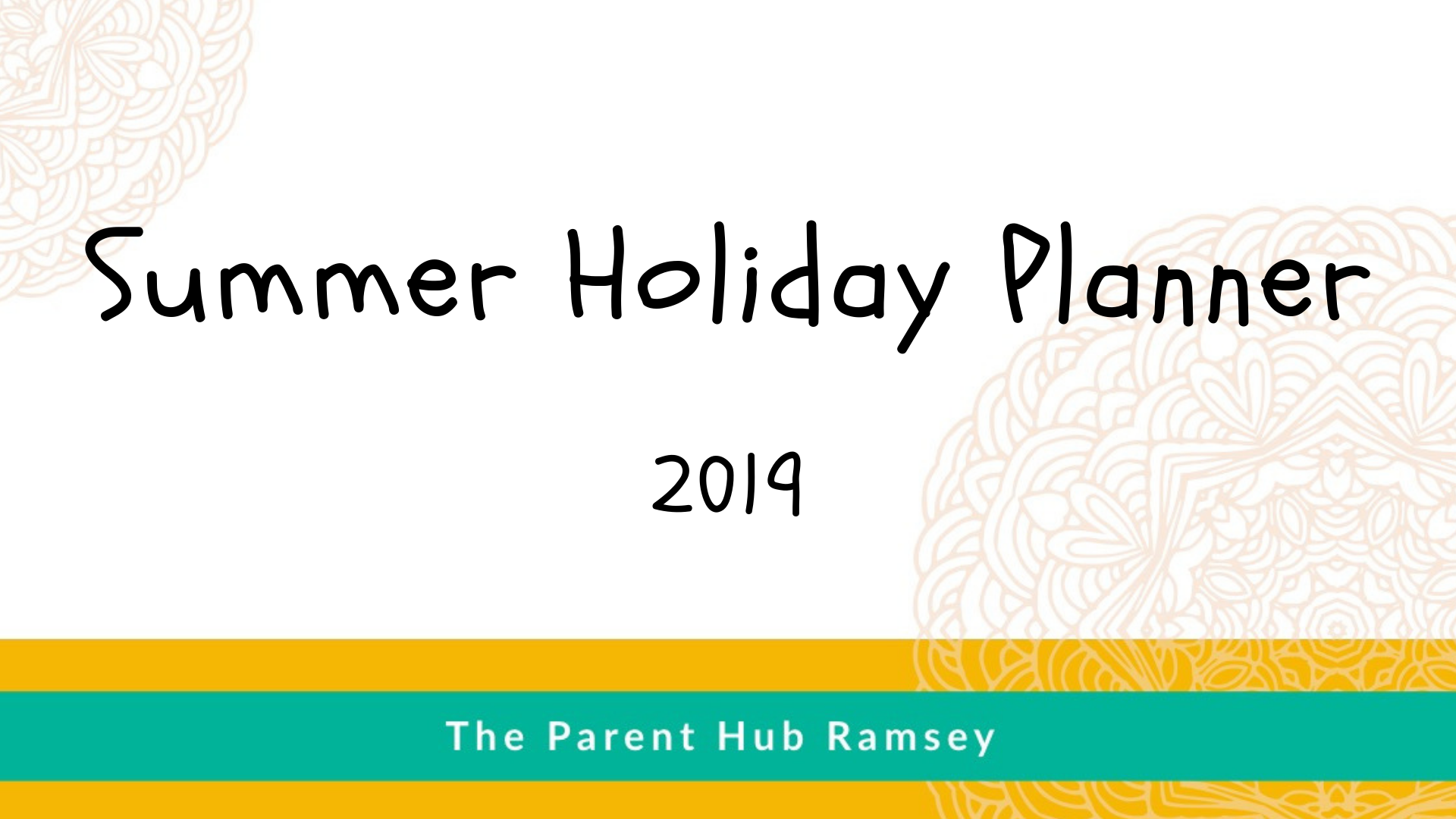 Summer Holiday Planner