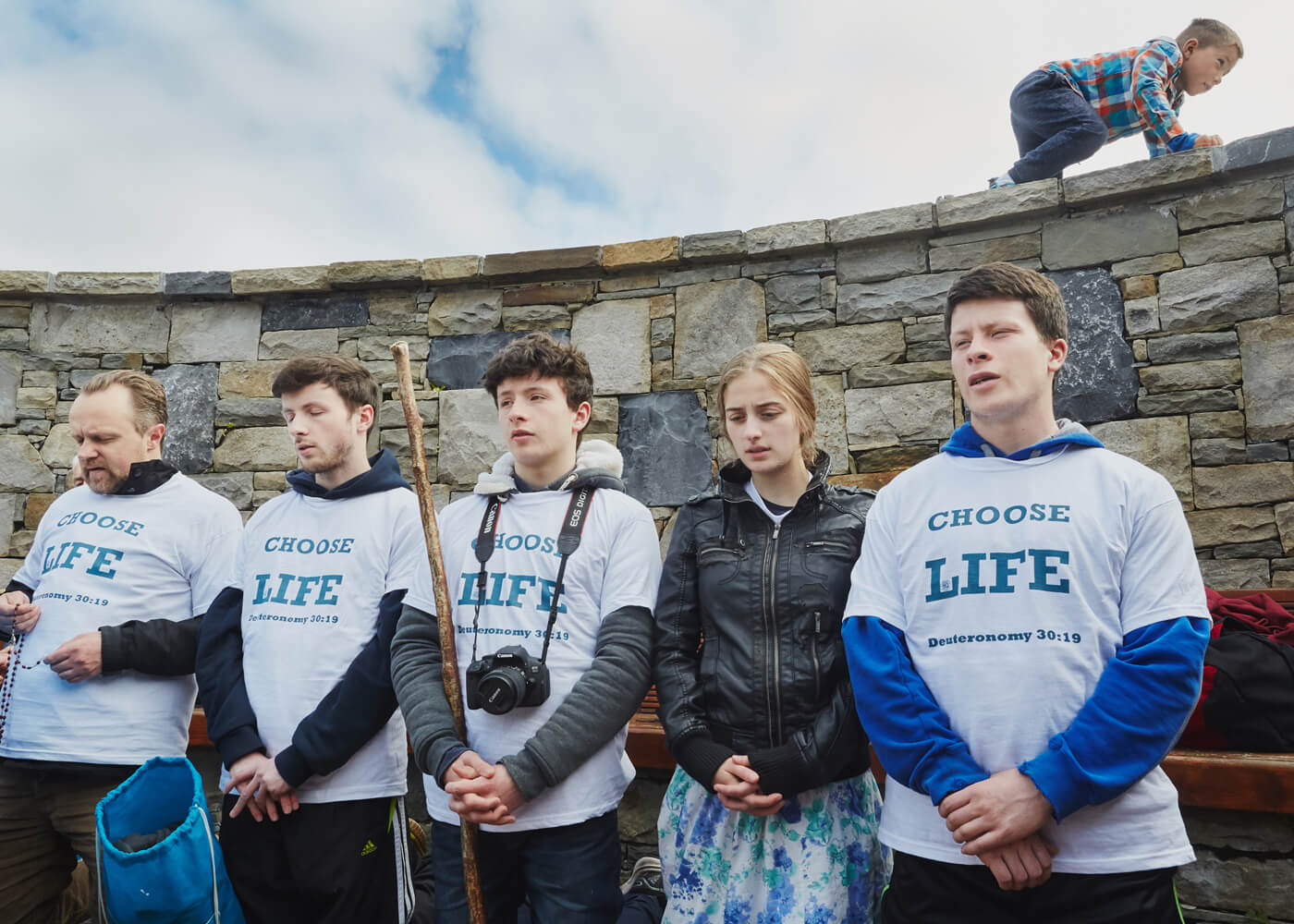 The Sin of Male Lust, County Mayo.  Pro life campaigners say Hail Marys and ask forgiveness for the sin of male lust at a holy shrine in County Mayo.