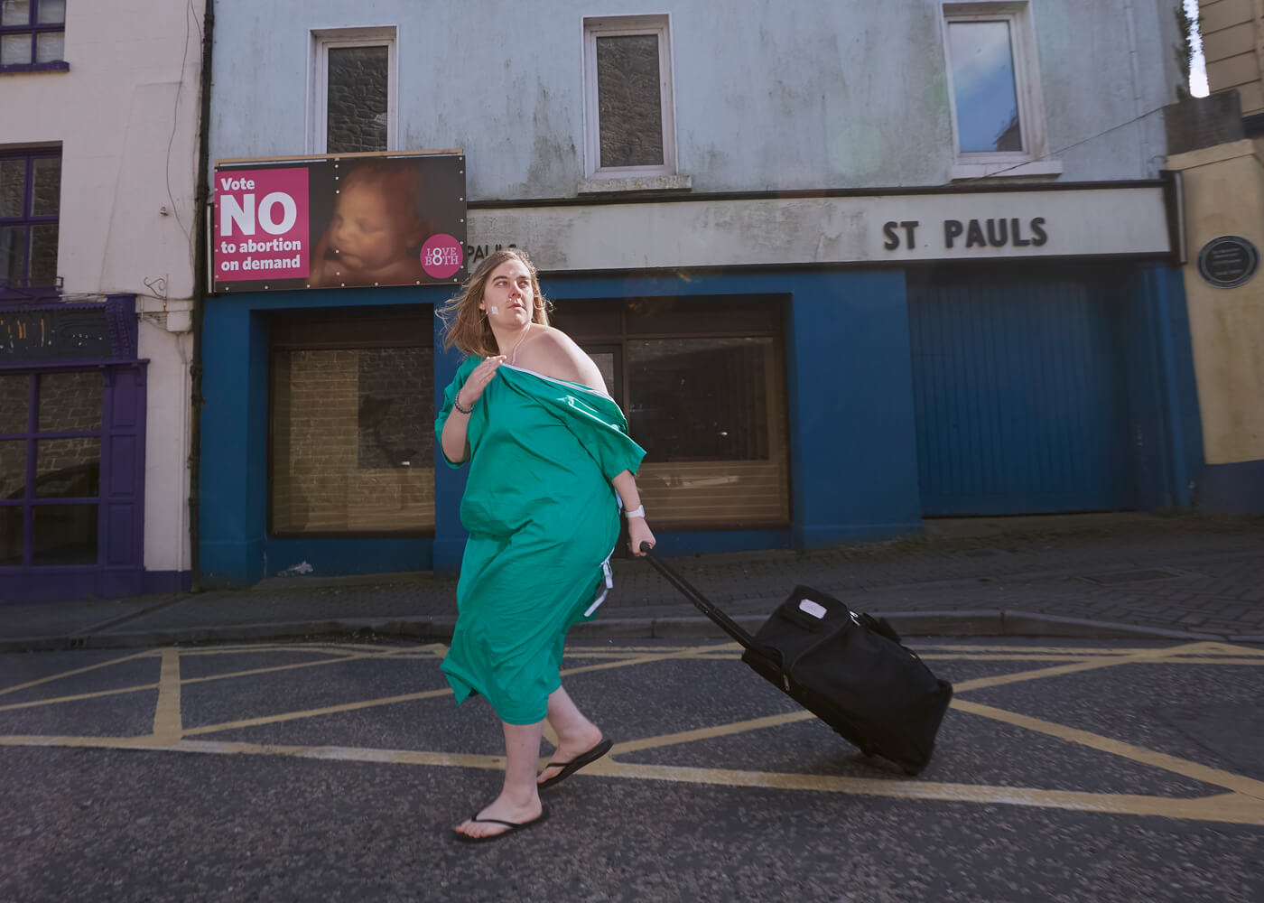 Grace, west of Ireland.  Grace performed the story of her journey to England for an abortion in towns and villages throughout Ireland.