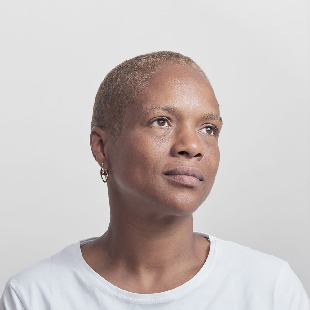 Natalie Worgs, 41, fashion facilitator: 'It wasn't easy because ladies would say things in the line like 'She looks like a man. I bet she's a lesbian'. I said to one of them 'listen, me shaving my hair is my choice. It's  my  choice.'