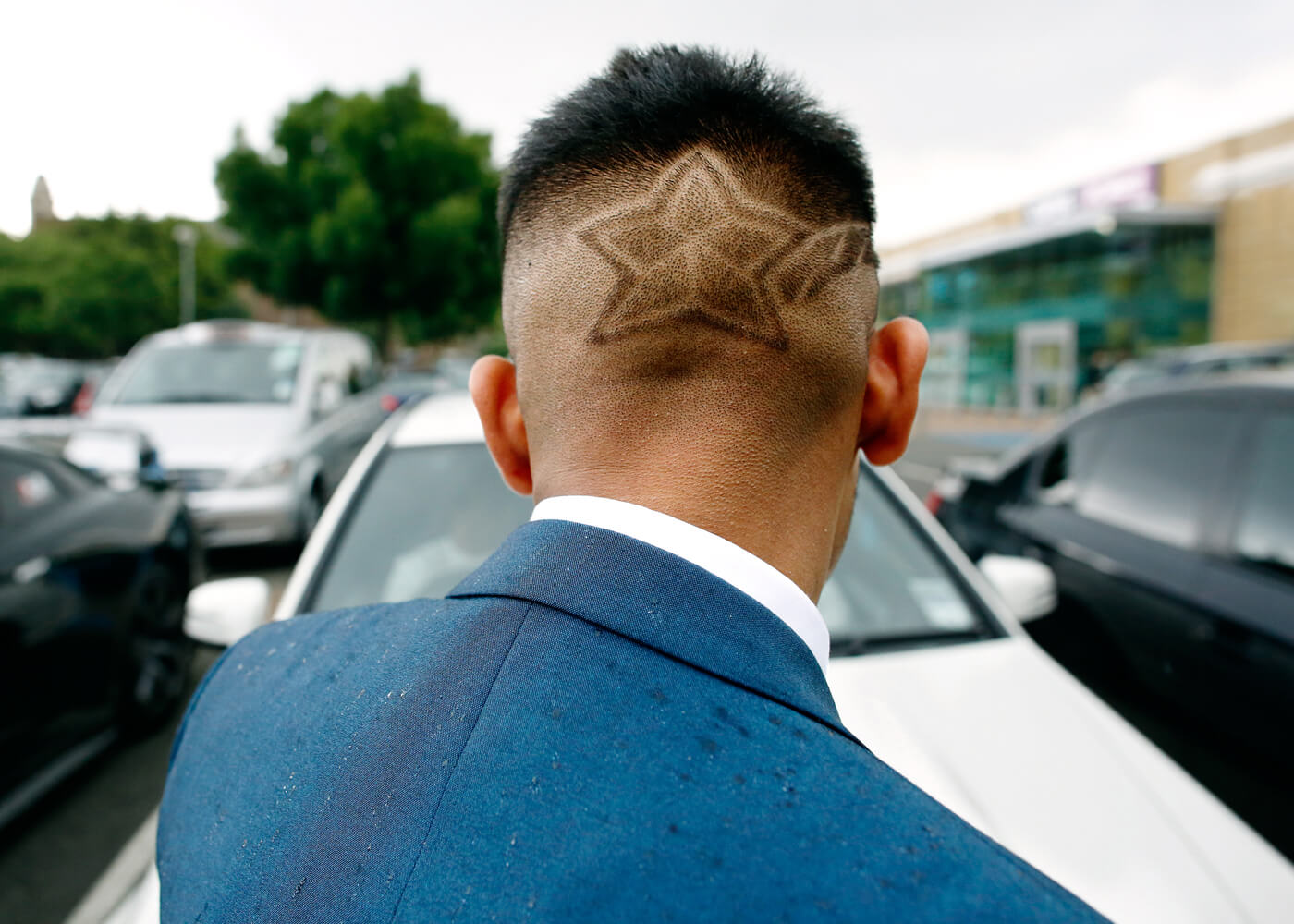 A special haircut for the day.