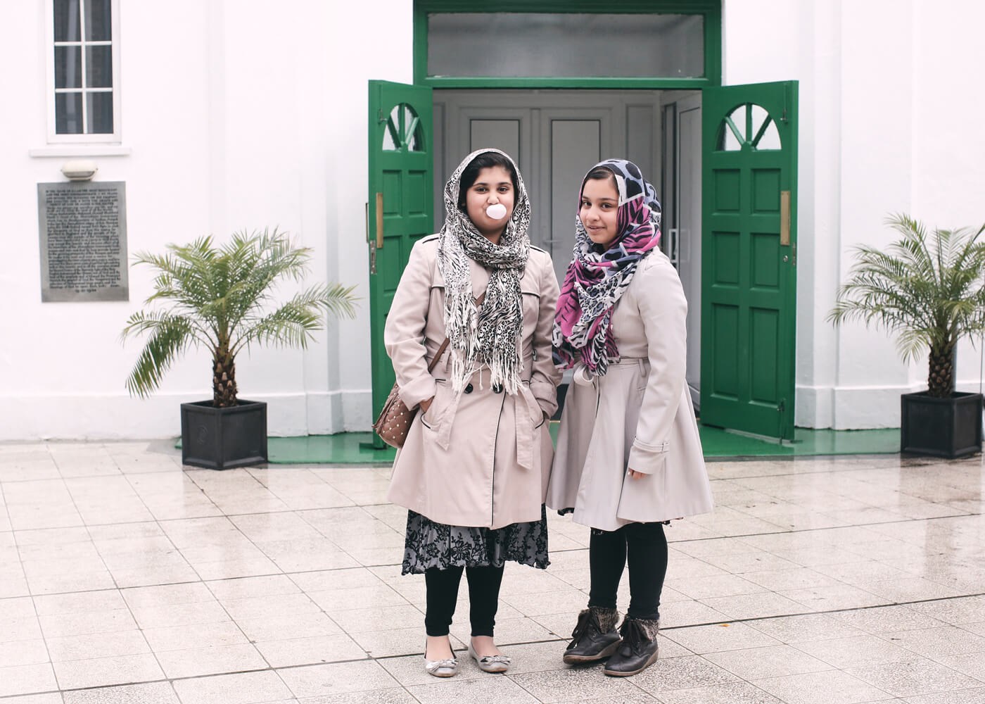 Madiha, 12, and Afsha, 11, both started to wear the hijab around the age of eight.