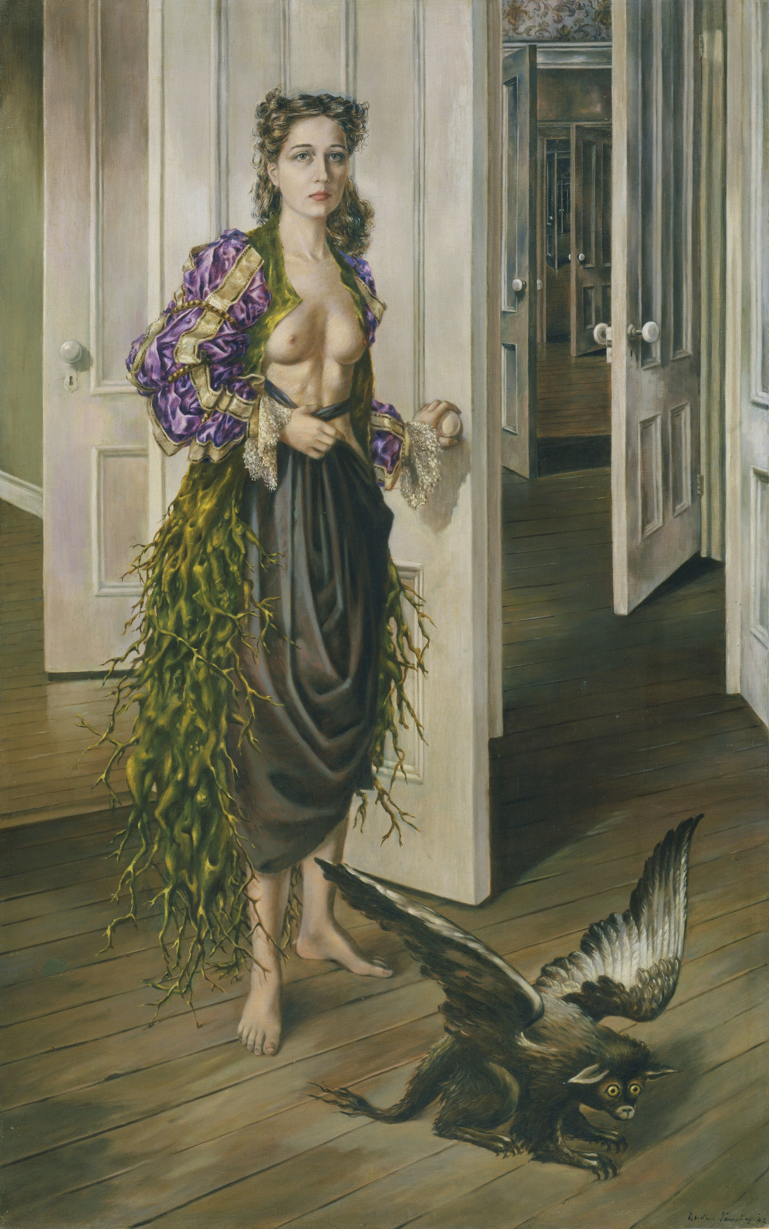 Dorothea Tanning (1910 – 2012) Birthday 1942 Oil paint on canvas 1022 x 648 mm Philadelphia Museum of Art (Philadelphia, US) © DACS, 2019.jpg