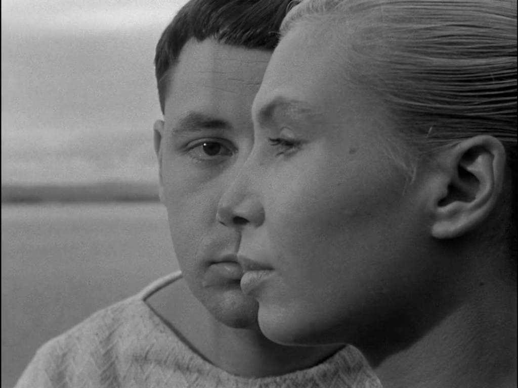 Philippe Noiret and Silvia Monfort playing in Agnès Varda's La Pointe Courte (1955).