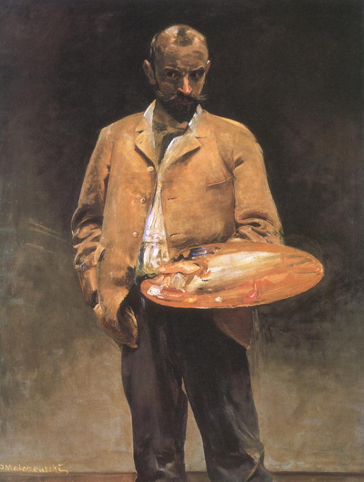Jacek Malczewski-Self-portrait with palette