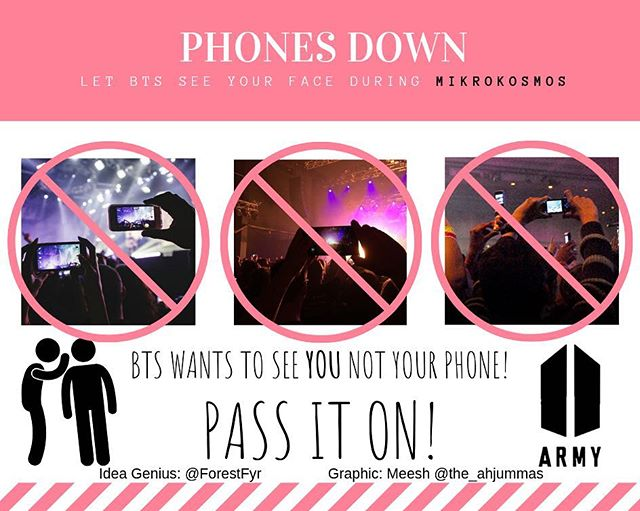 Share this info graphic far and wide!  #LookAtMeArmy #btsconcert #bangtanboys #persona #bts #bangtan #phonesdown