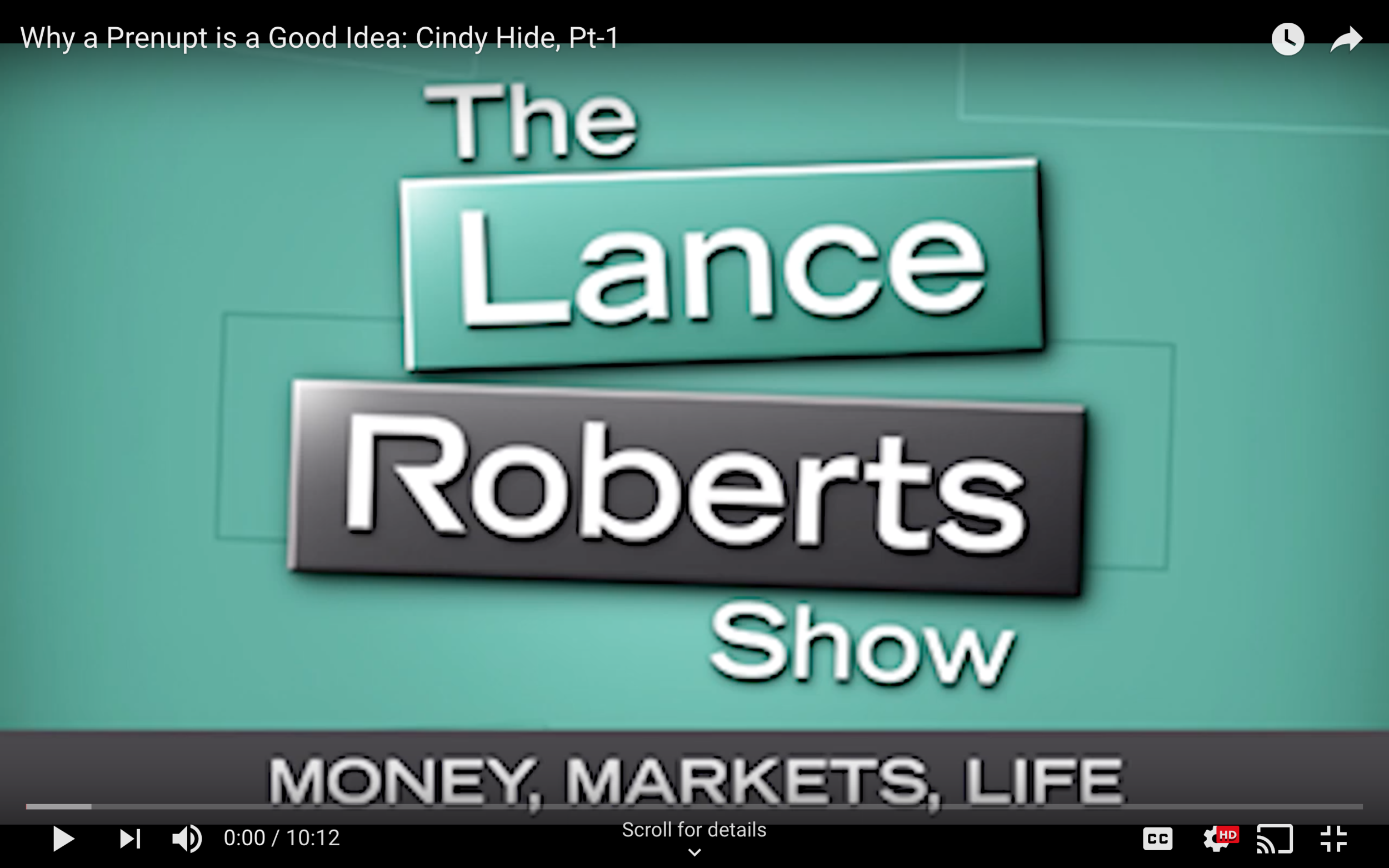 Family law attorney, and founder of Love, Money & the Law, Cindy Hide, is featured on The Lance Roberts Show discussing the basics of cohabitation agreements in Houston, Texas.
