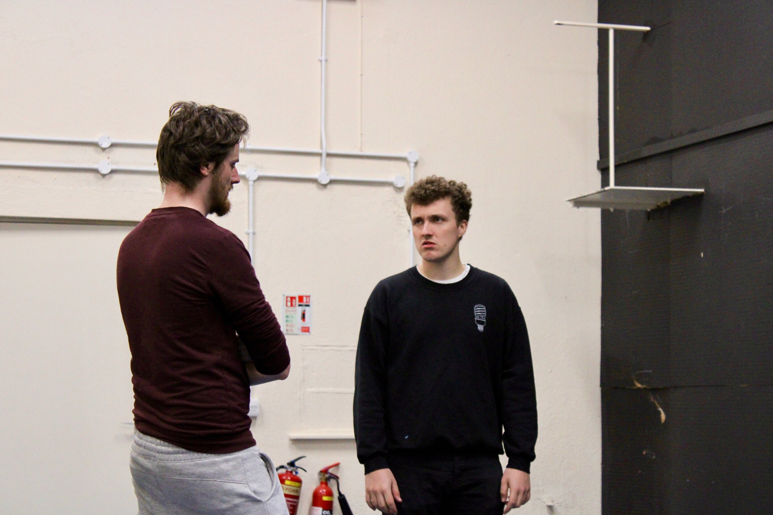 Fionntán Larney and Dominic O'Brien (Rehearsals, 2019)
