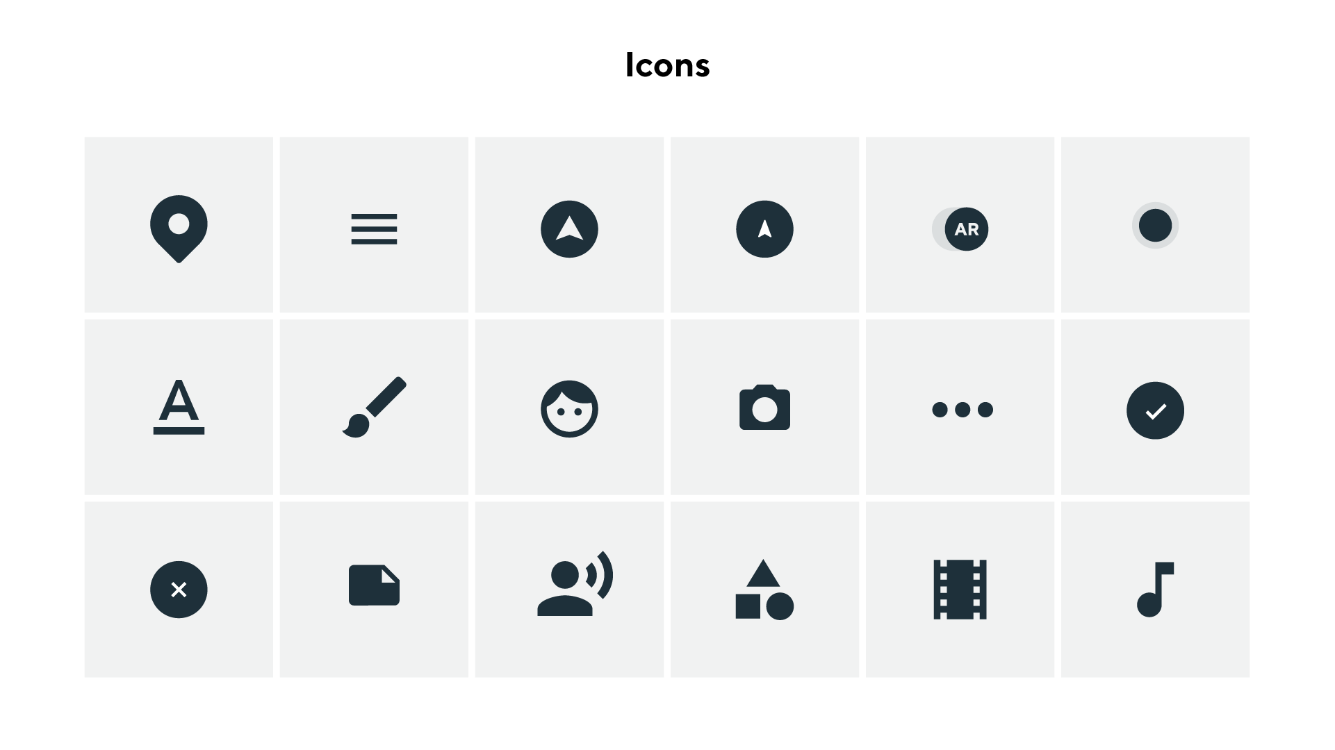 Note: Some icons created by Google's open source icon database.
