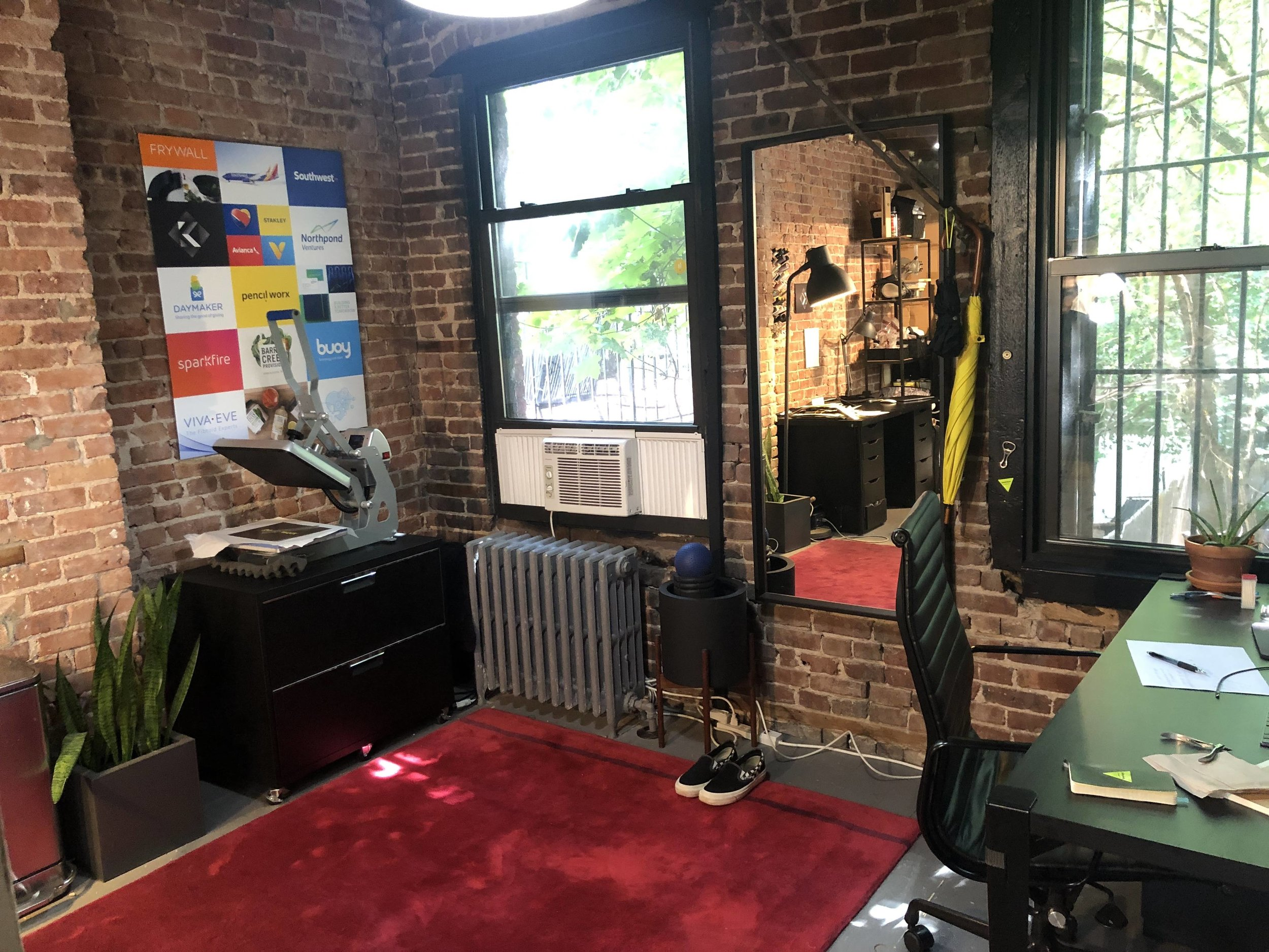 Space 2B at The Harlem Collective is a sunny private office that seats 2 - 3 people. Currently set up as a recording studio by the current tenant, but it can be delivered with desks and office chairs in any configuration you choose — or empty.