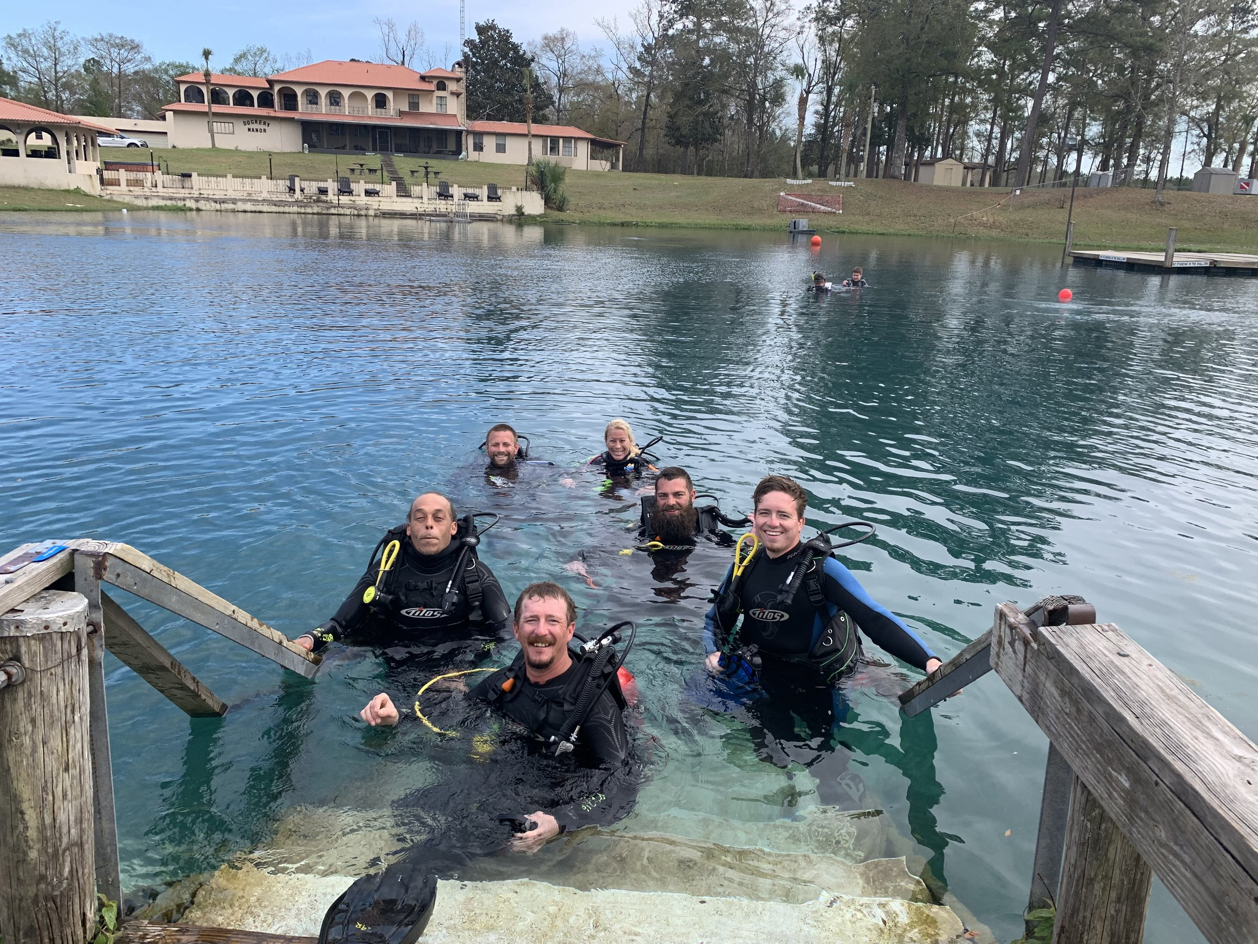 Discover Scuba Experience - $150.00Have you always wondered what it's like to breathe underwater? If you want to try scuba diving, but aren't quite ready to take the plunge into a certification course, Discover Scuba Diving is for you. Vortex Dive Resort offers this course right here at our beautiful spring. While not a scuba certification course, Discover Scuba Diving is a quick and easy introduction to what it takes to explore the underwater world. If after your Discover scuba experience you decide to become a certified scuba diver, 50% of your Discover Scuba Diving cost can be applied to an Open Water Dive Certification with us. Discover Scuba fees include a dive pass, instructor fees, air fills, and all rental gear.To sign up for a PADI Discover Scuba Diving experience, you must be at least 10 years old. No prior experience with scuba diving is necessary, but you need to be in reasonable physical health. This course does not result in a certification.
