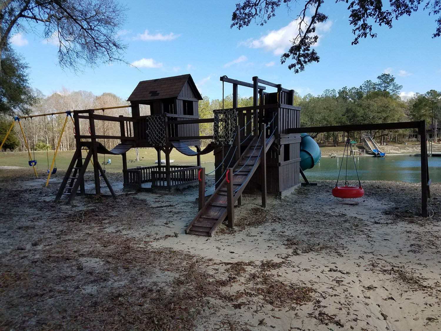 playgrounds - We have 4 children's playgrounds! One near swim basin, one near dive shop, and one near Pinewood Lodge.