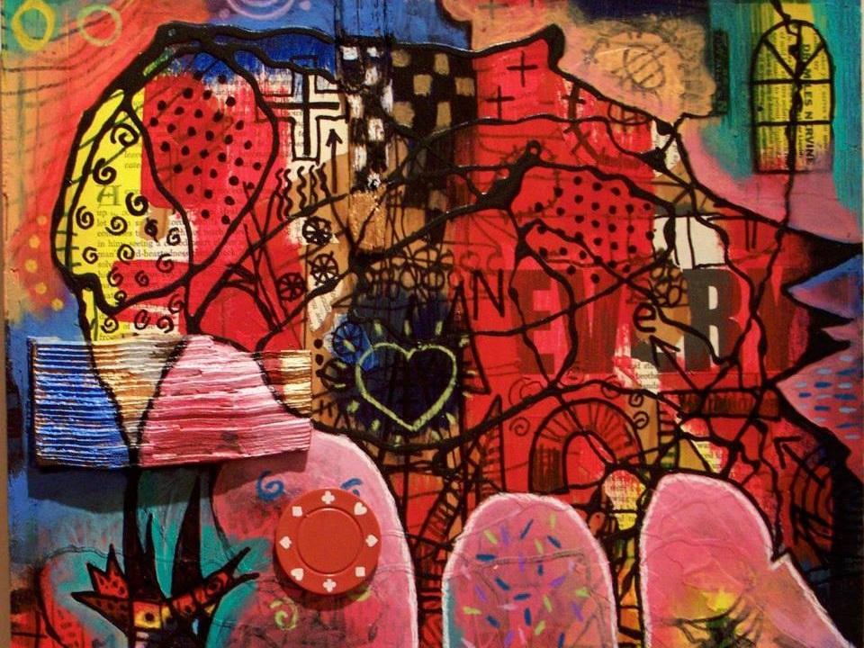 Robert Esquivel - Paintings / mixed media