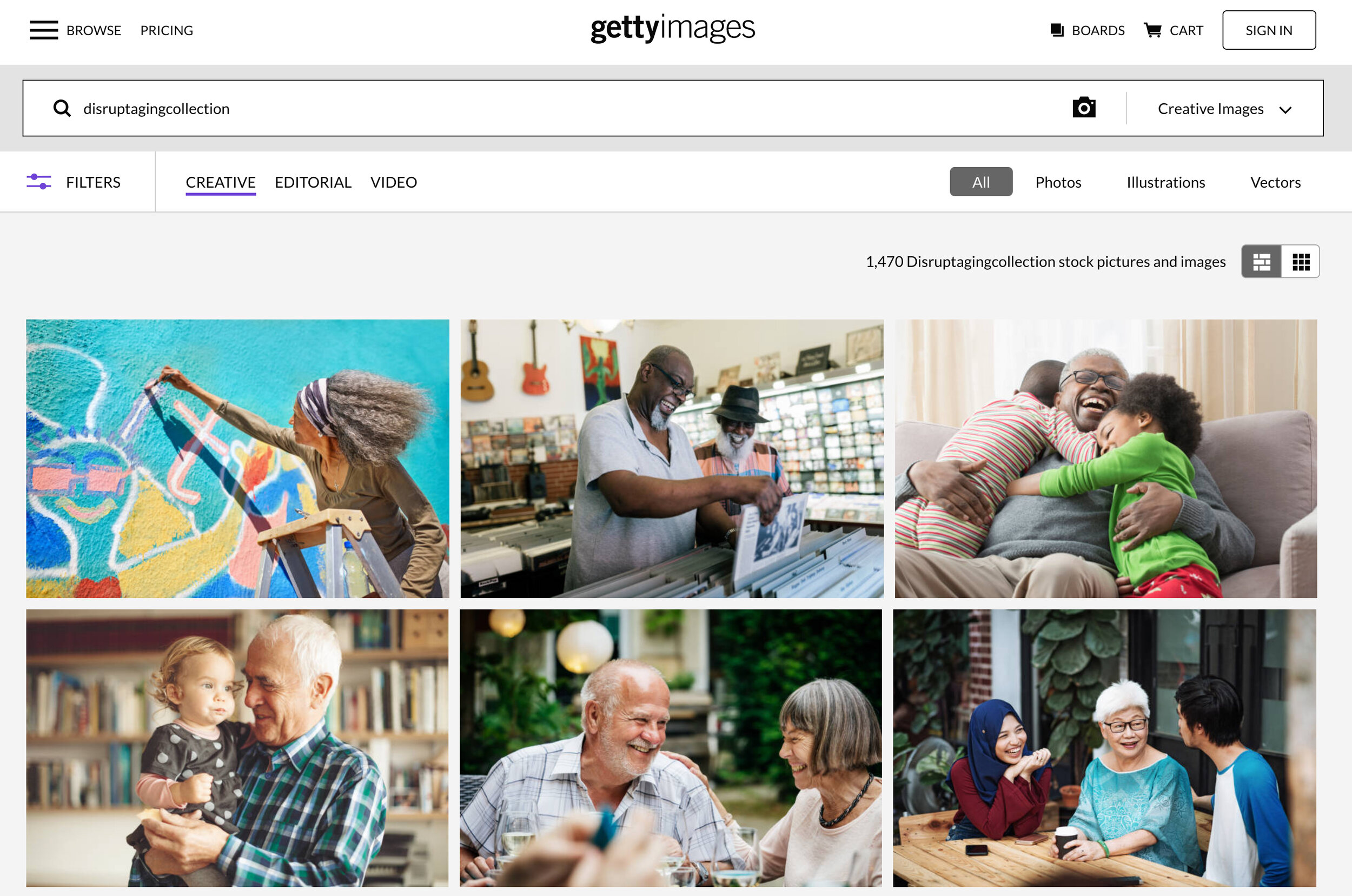 """Getty Images """"Disrupt Aging Collection"""""""