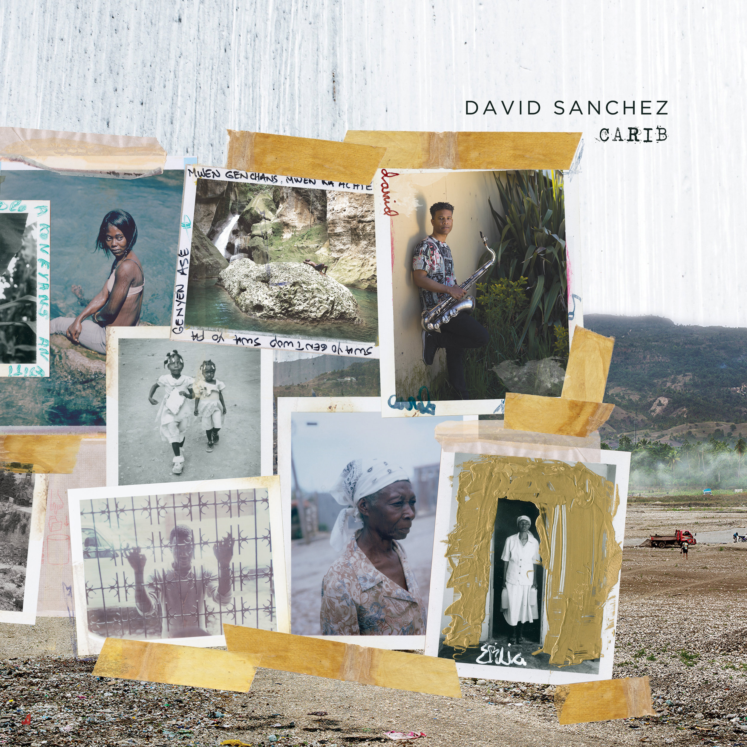 David Sanchez Carib cover art featuring artist Jim Goldberg's photographs.