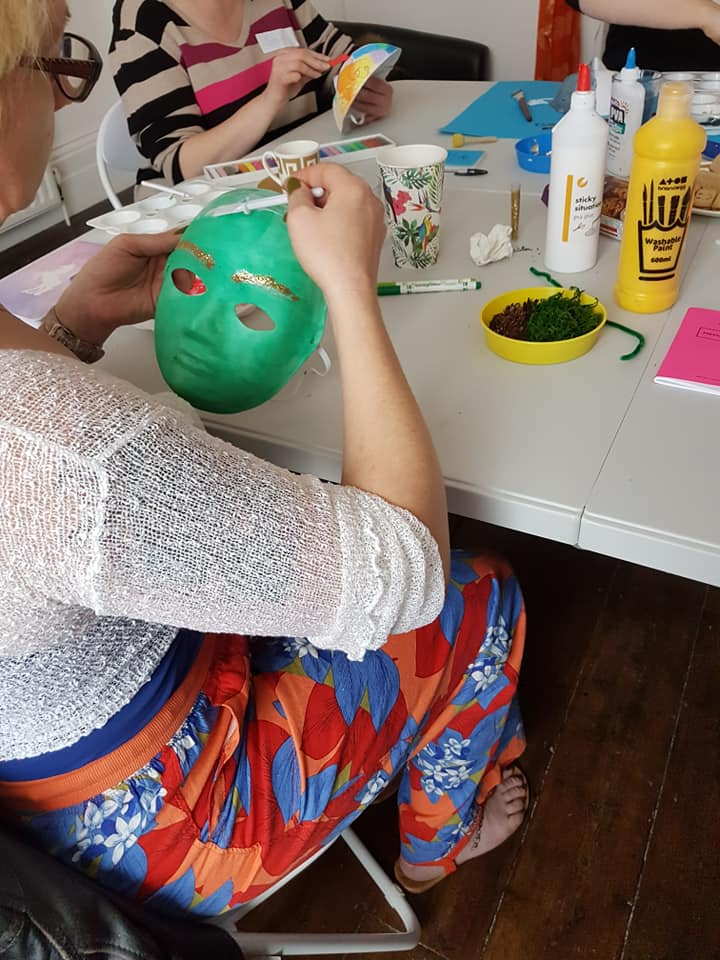 Work begins on the external masks we wear