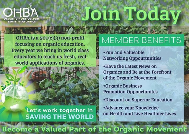 The Organic Life is a proud supporter of OHBA--Organic Horticulture Benefits Alliance @ohba_htx & we invite you to join the Organic movement with us! 🌱🌼🐛 OHBAONLINE.ORG/JOINOHBA
