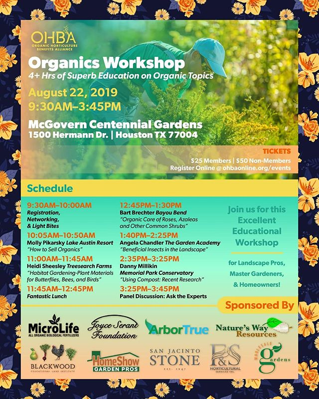 OHBA's August Organics Workshop less than a month away! 👩🌾Join OHBA & register today @ ohbaonline.org 🎟️