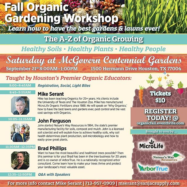 TOMORROW IS THE DAY! Don't miss the Organic Gardening Workshop, MicroLife has teamed up with ArborTrue & Nature's Way Resources. Ready for tour most outstanding Fall garden yet? This seminar is for you! 🍃🌻🐝 Registration link in bio
