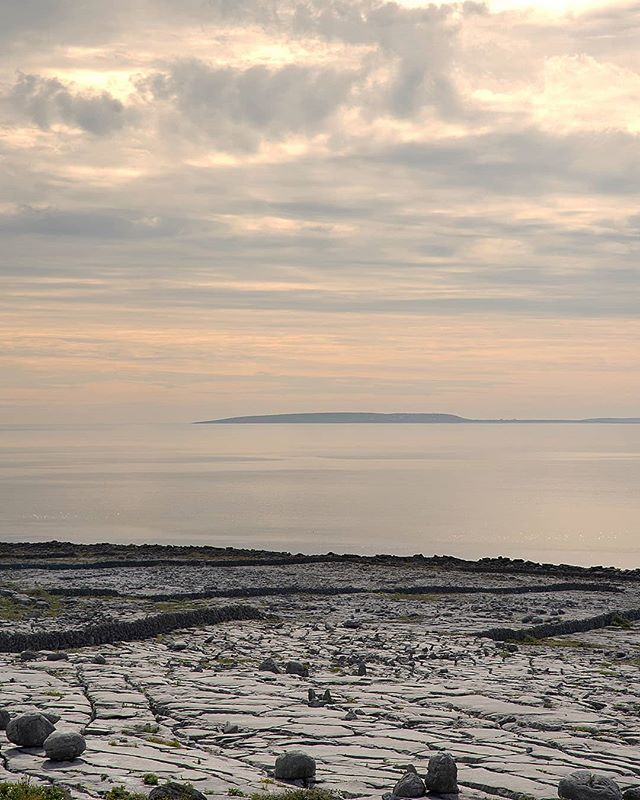 Impressive view of the Aran Islands from the Burren this evening. ❤ driving  @thewildatlanticway is always an adventure. #Galwaycoastcottages . . . . . . . . . . .#galway #ireland #thisisgalway #iloveireland #irish_daily #agameoftones #instaireland #ig_ireland #icu_ireland  #travel #landscape #inspireland #wildatlanticway #wonderful_places #discoverireland #planetearth #earthpix #beautifuldestinations #instagood #drones #dronephotography #mywildatlanticway #summer #roamtheplanet  #peoplescreatives #exklusive_shot