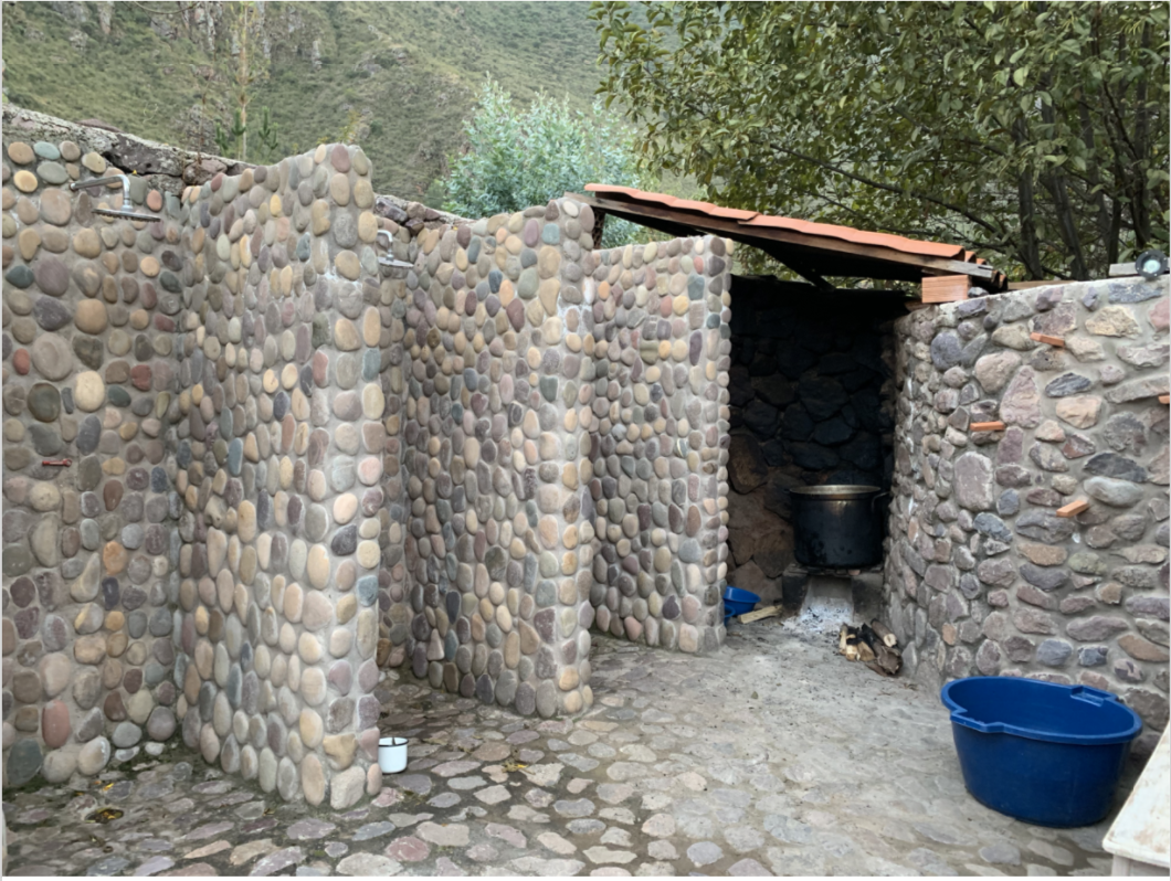 Post-temazcal open air showers