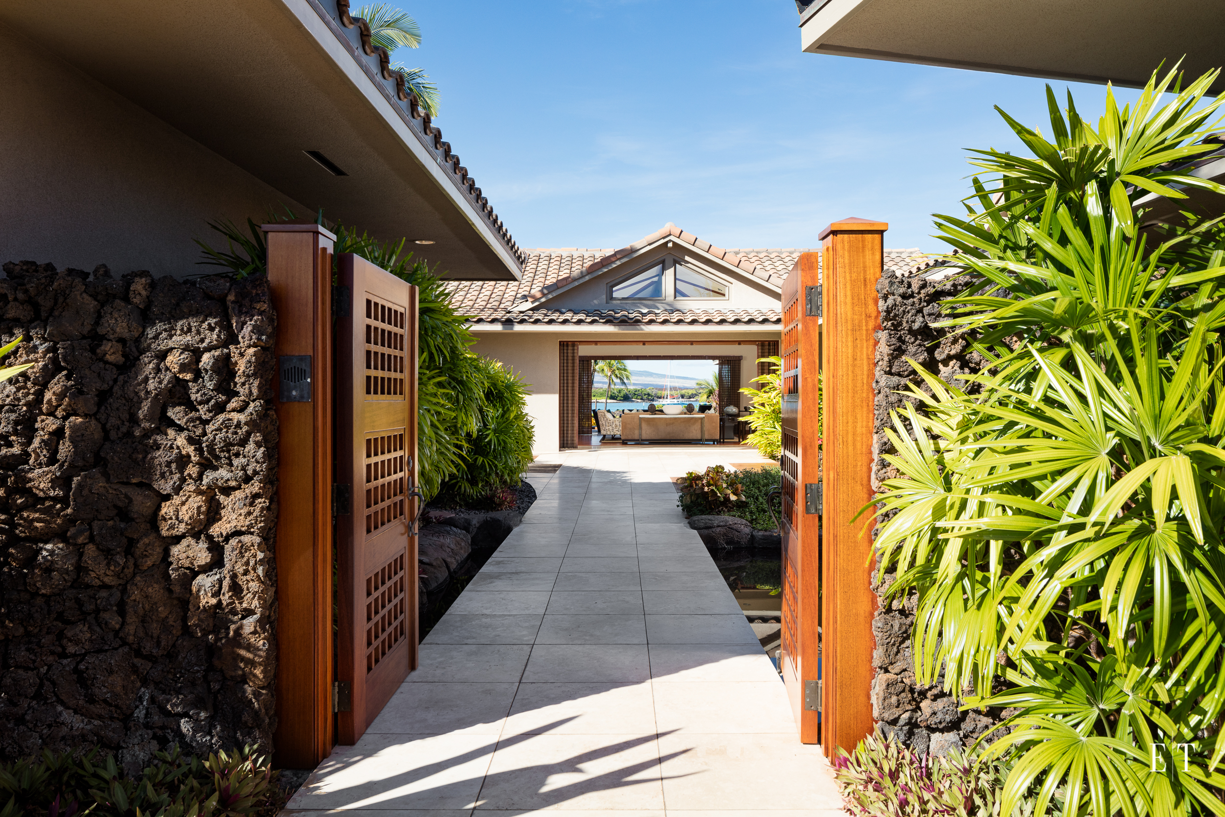 As you enter the home you are immediately drawn to the view of the Pacific Ocean!