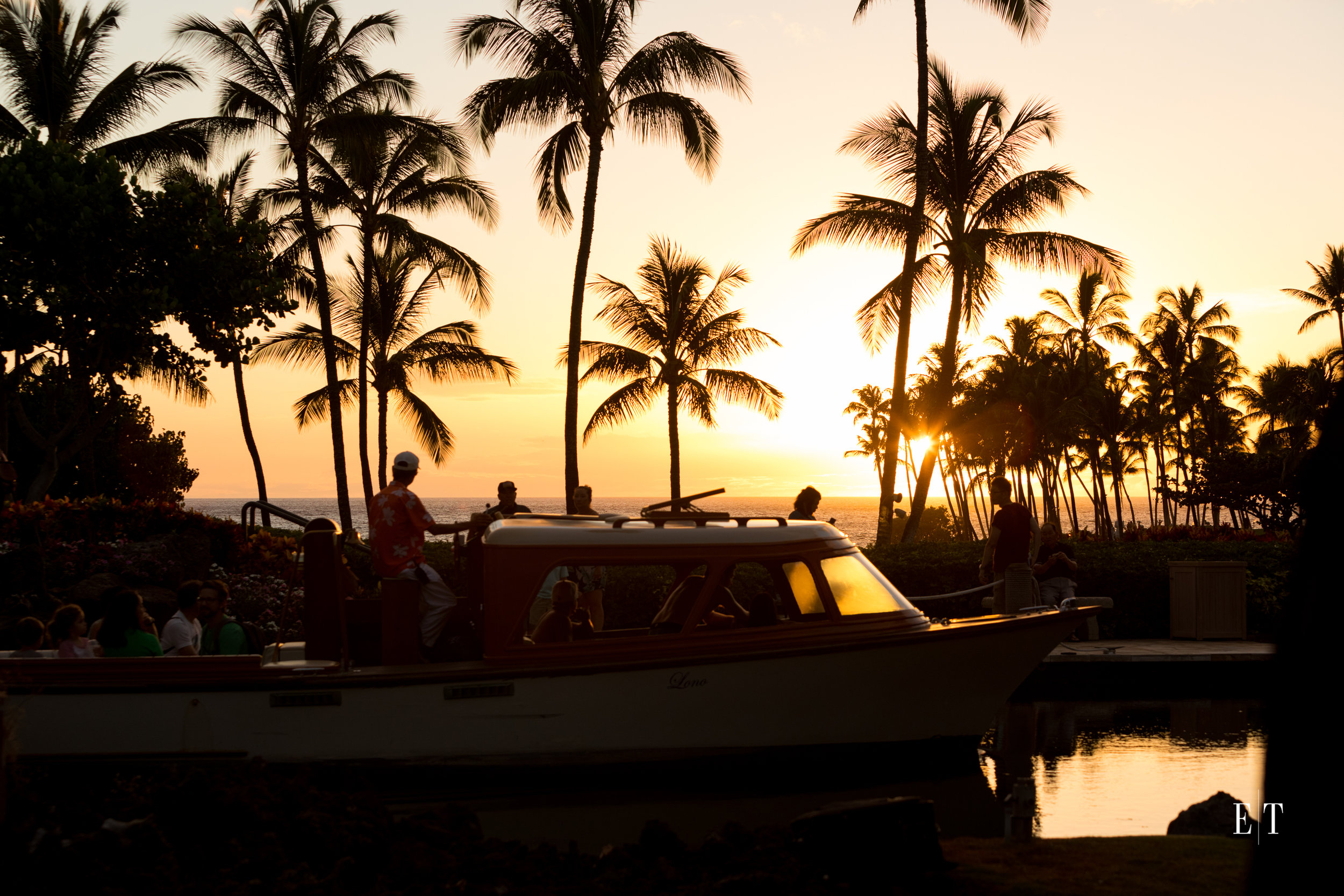 Hilton Waikoloa Village at sunset
