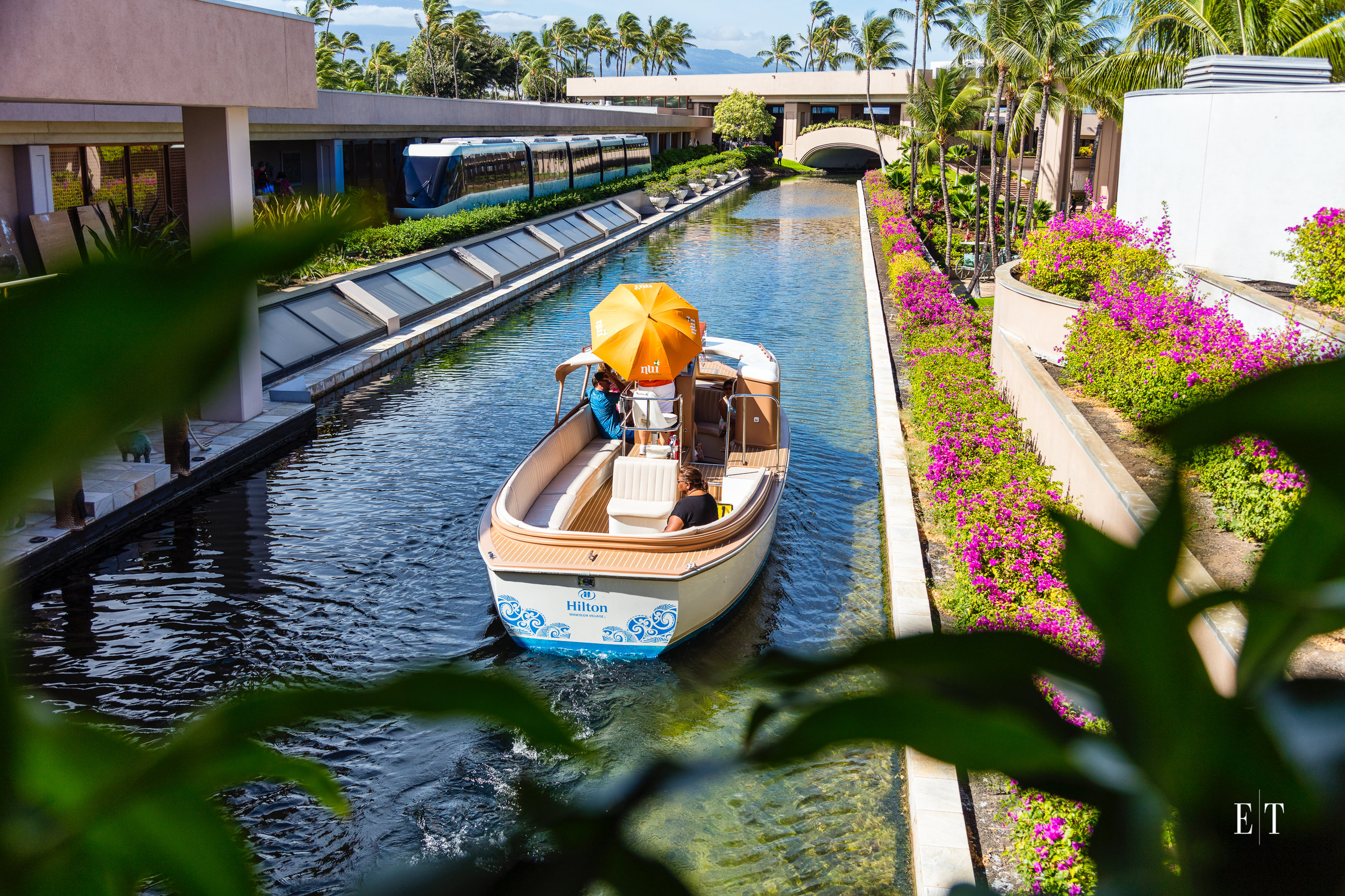 Hilton Waikoloa Village electric boat