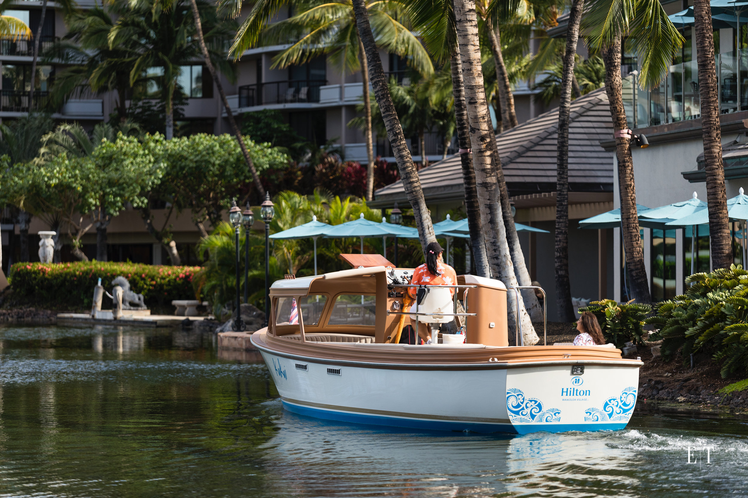 Hilton Waikoloa Village brand new electric boat