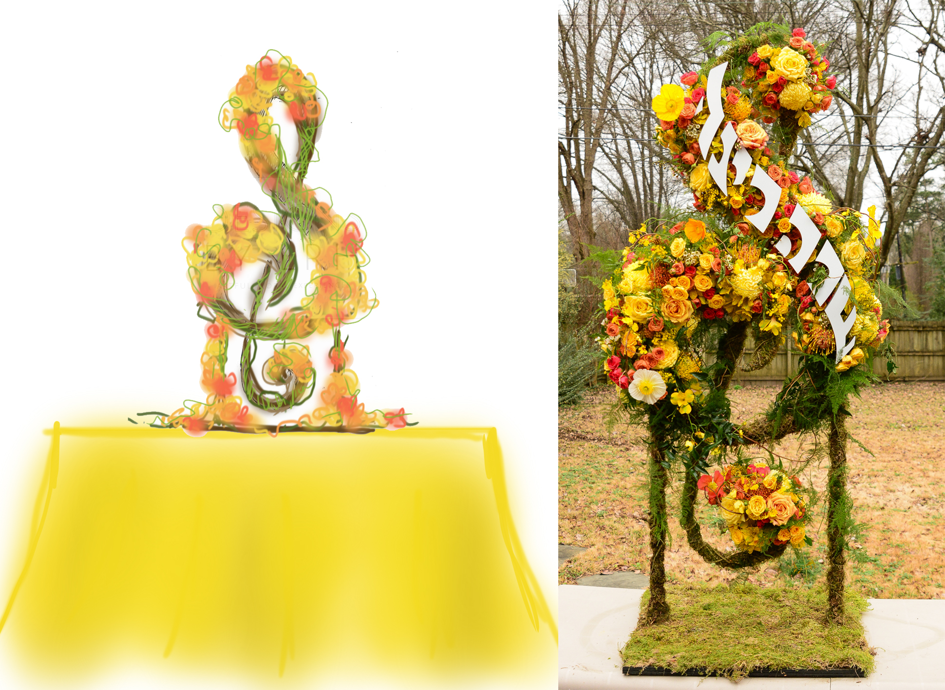 Having a fun themed party or shower? - We specialize in large-scaled custom and branded floral sculptures and centerpieces. The perfect addition to take your party to the next level.