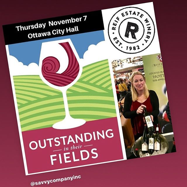 Come visit me at the @reifestatewinery this Thursday in Ottawa! Lot's of great wines to taste including my own #sauvignonblanc ! It all happens in Ottawa at the Outstanding in Their Fields event at Ottawa City Hall! #vqawinesofontario @winecountryont #tastelocal #lovelocal #vqa4theholidays