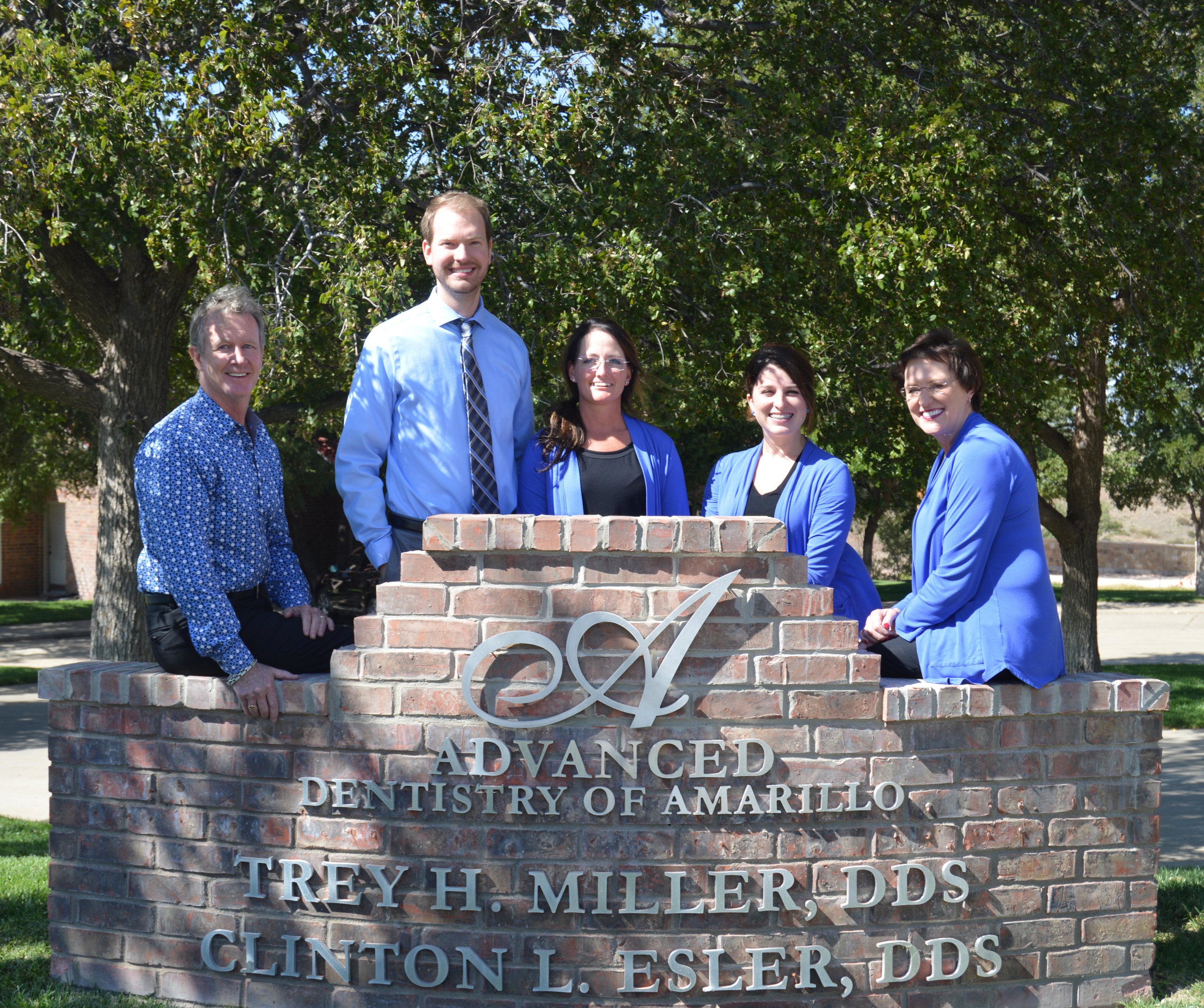 Our Team - Dr. Clinton Esler, Dr. Trey Miller, Kim, Chelsea, & Denise