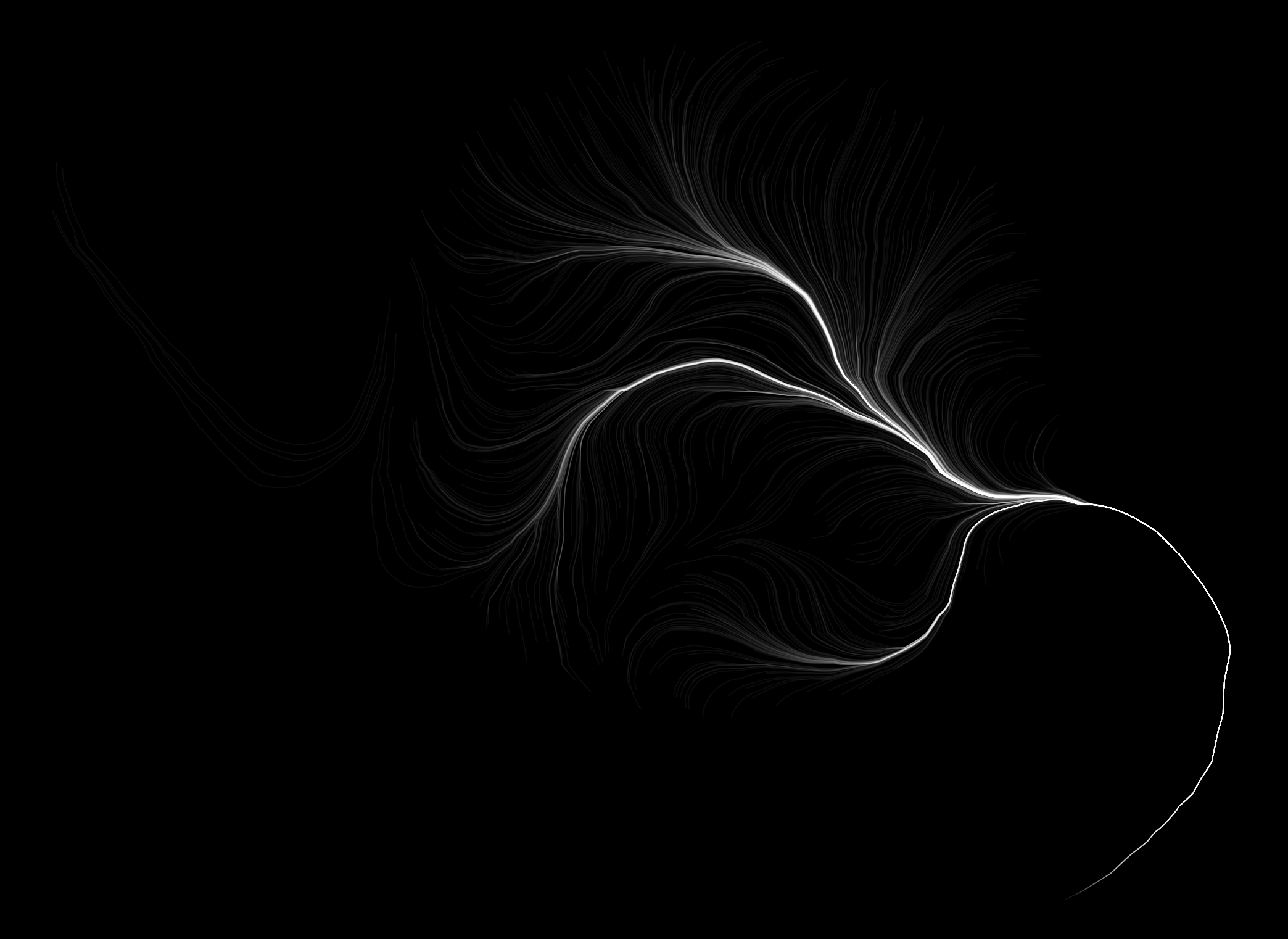 Particle simulation in a black box, searching for the edges (c) 2019