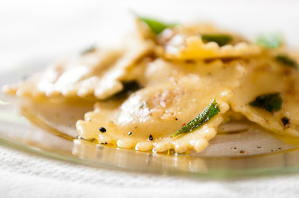Sweet Potato & Porcini Ravioli with Sage Beurre Noisette.jpg